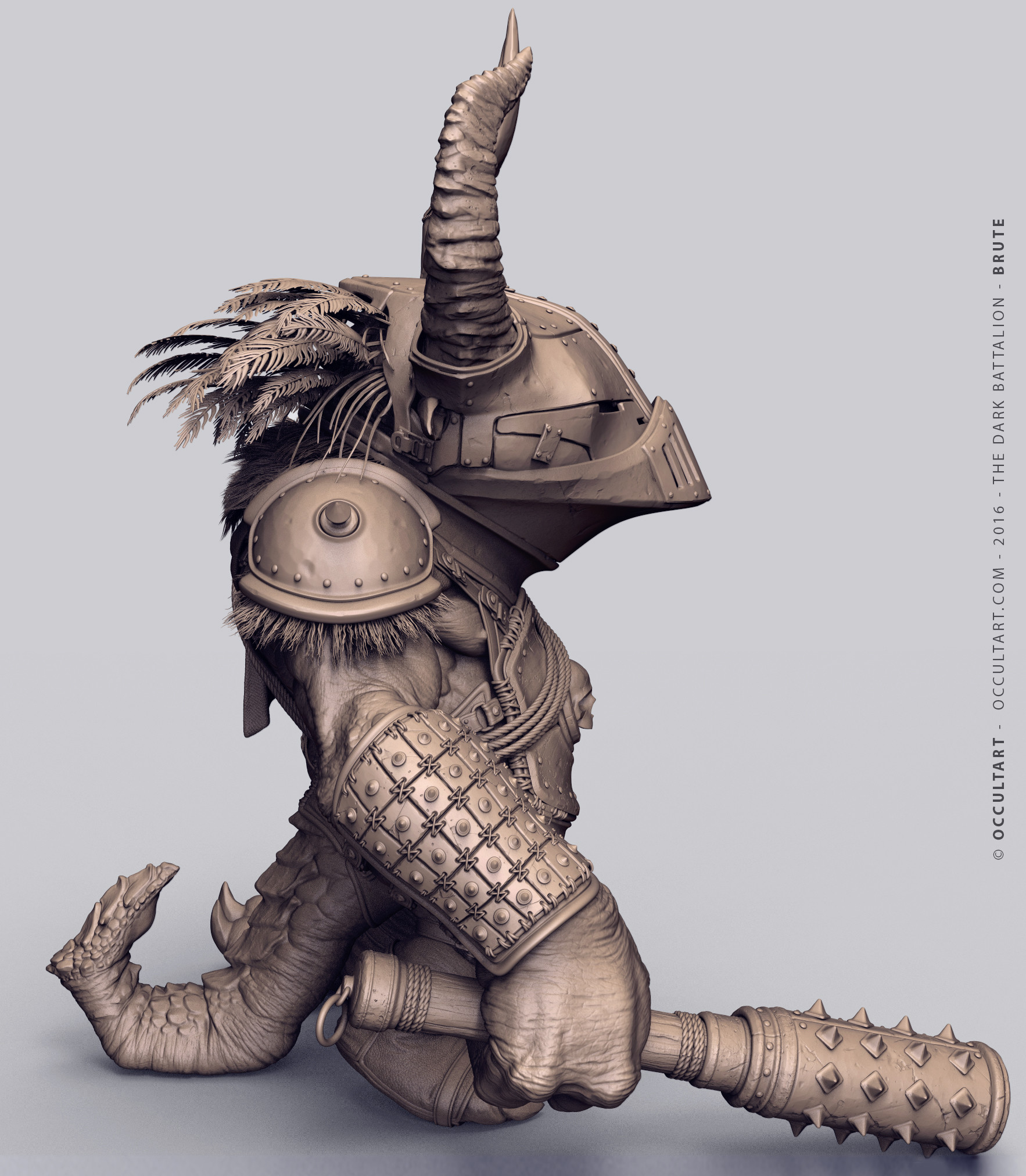 Occultart   sergeant clay zbrush unposed 64 02 copy