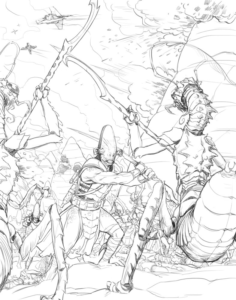 Darren tan sw eg ancient battle sketch
