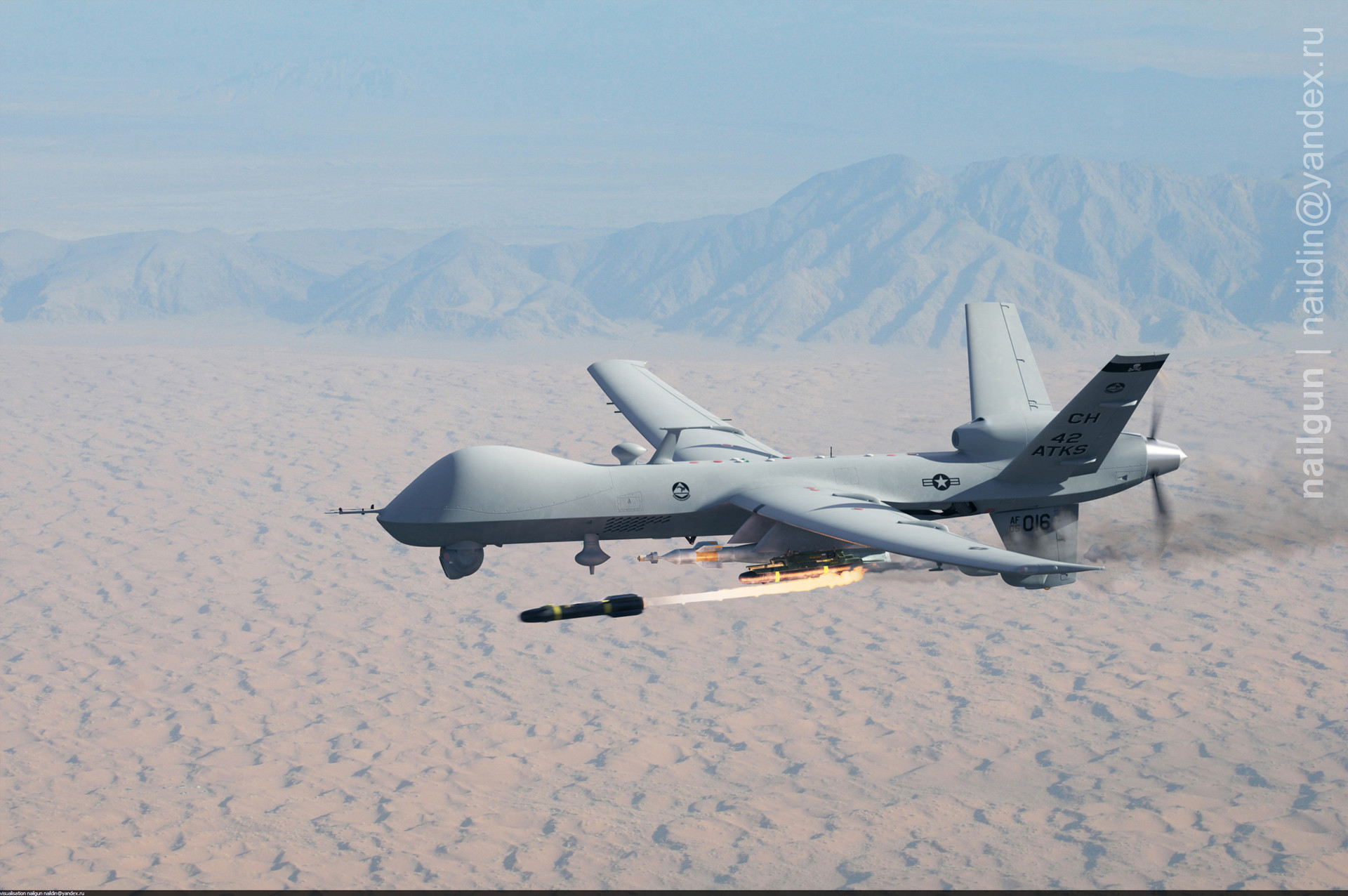 Nail khusnutdinov r221 mq 9 reaper flight missile launch