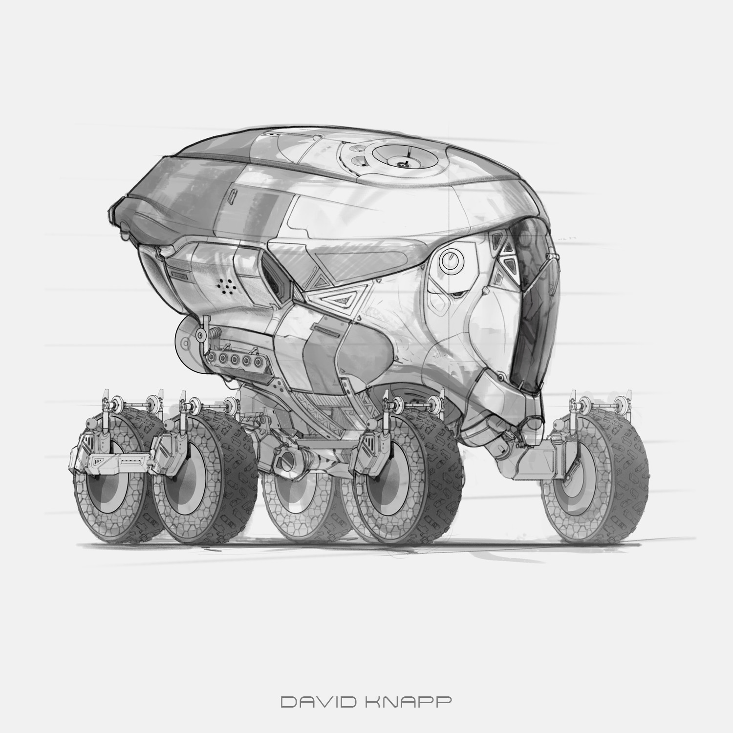 Buggy Drop Pod Sketches.