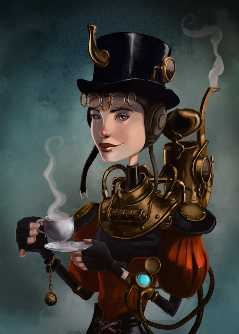 Thomasina Kettle and her time travelling tea urn.