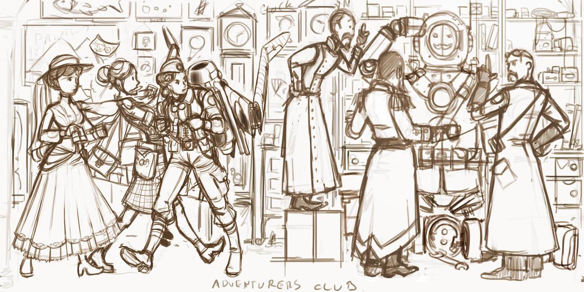 The Adventurers  Club (Sketch)