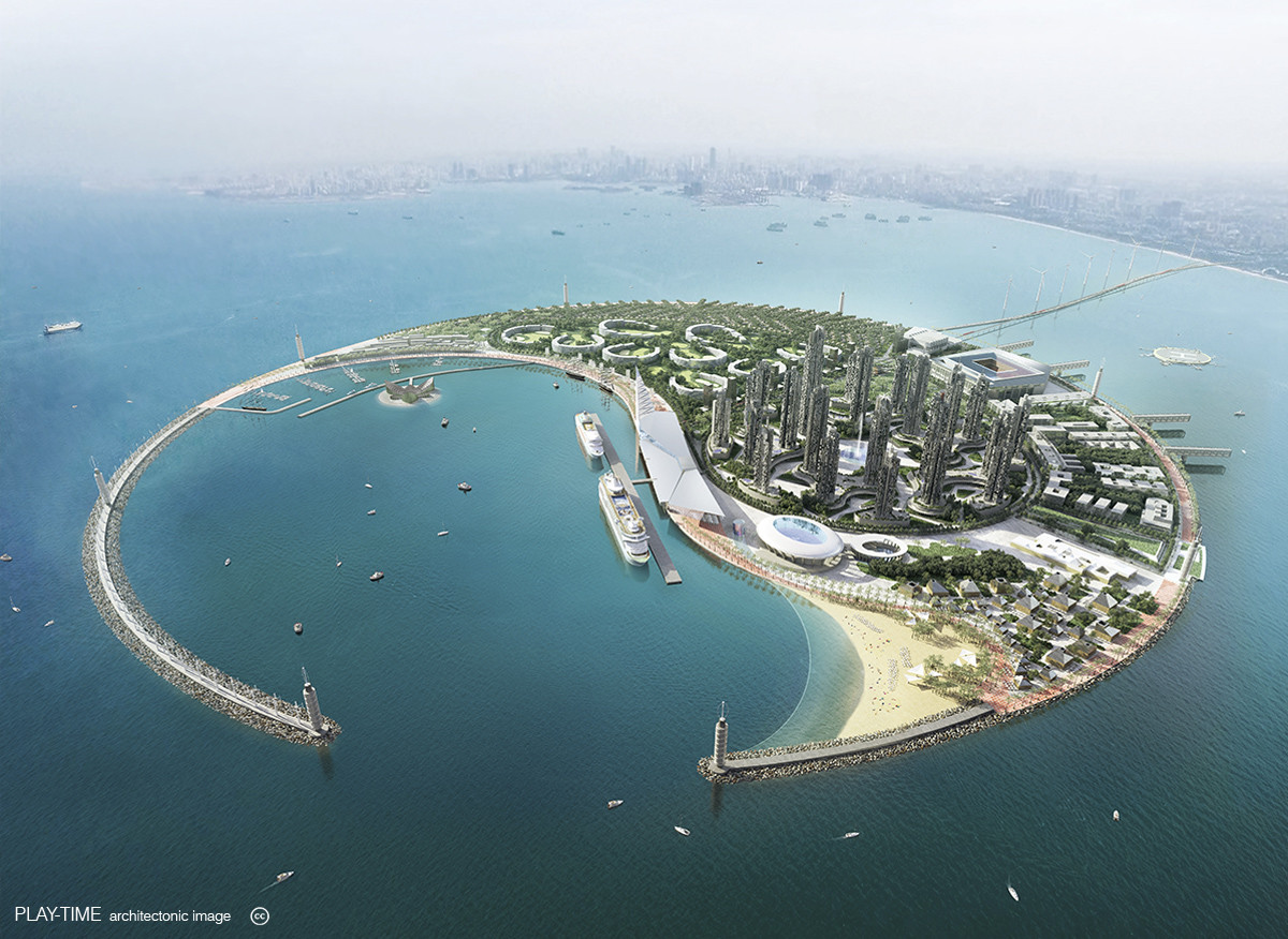 Play time architectonic image oab south sea pearl eco island competition 01