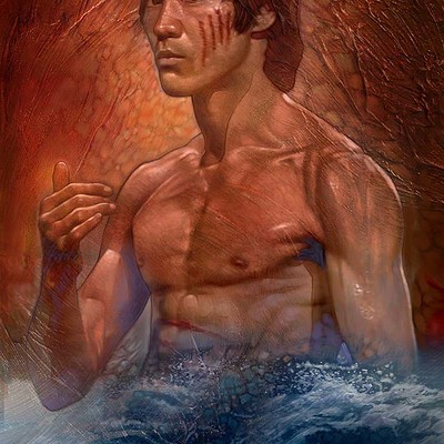 Dot line surface art studio brucelee water