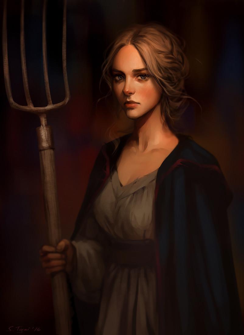 ArtStation - Medieval peasant woman, Svetlana Tigai