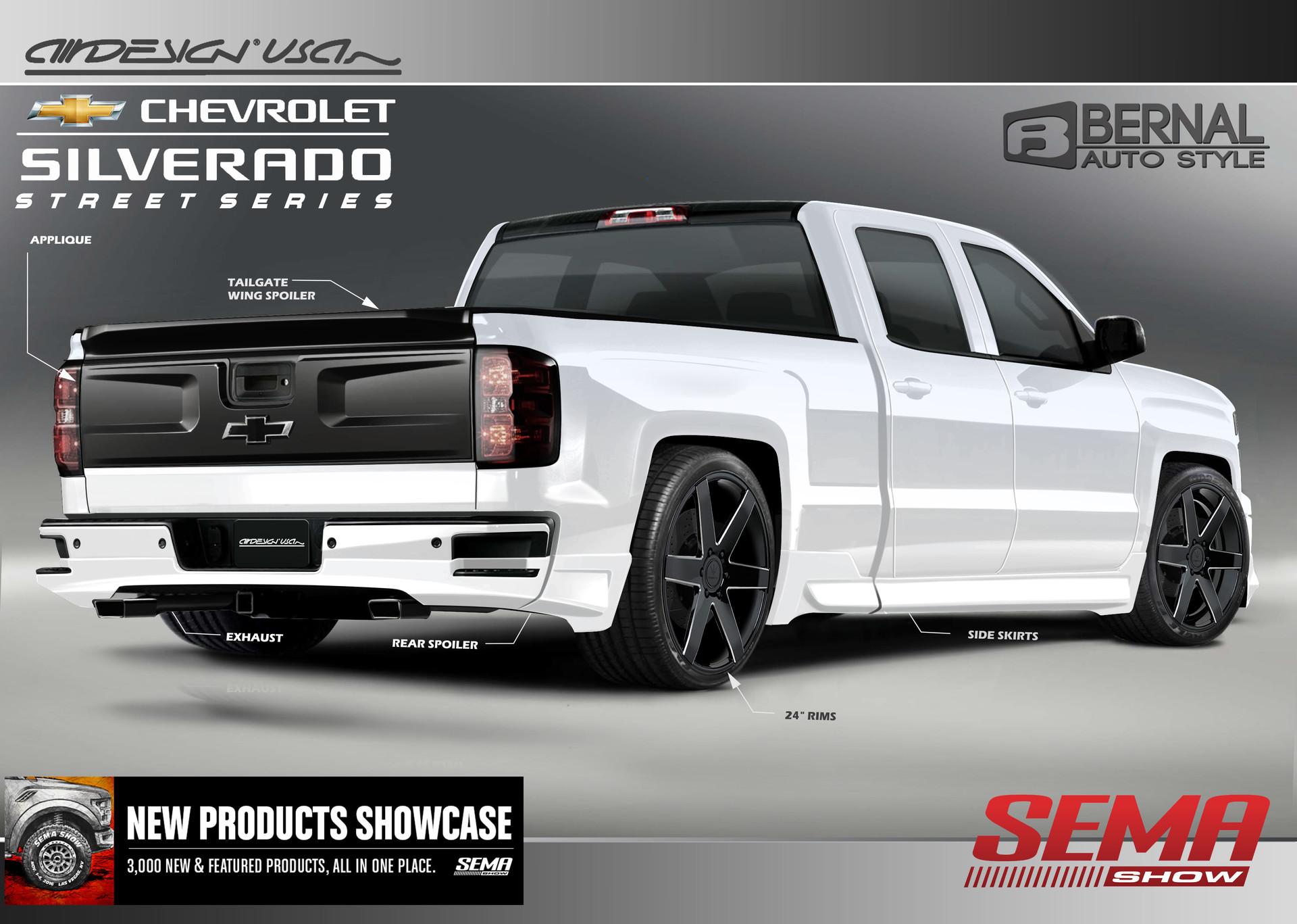 Rally Edition Silverado >> Matt Bernal - 2016 Chevy Silverado Air Design SEMA Street ...