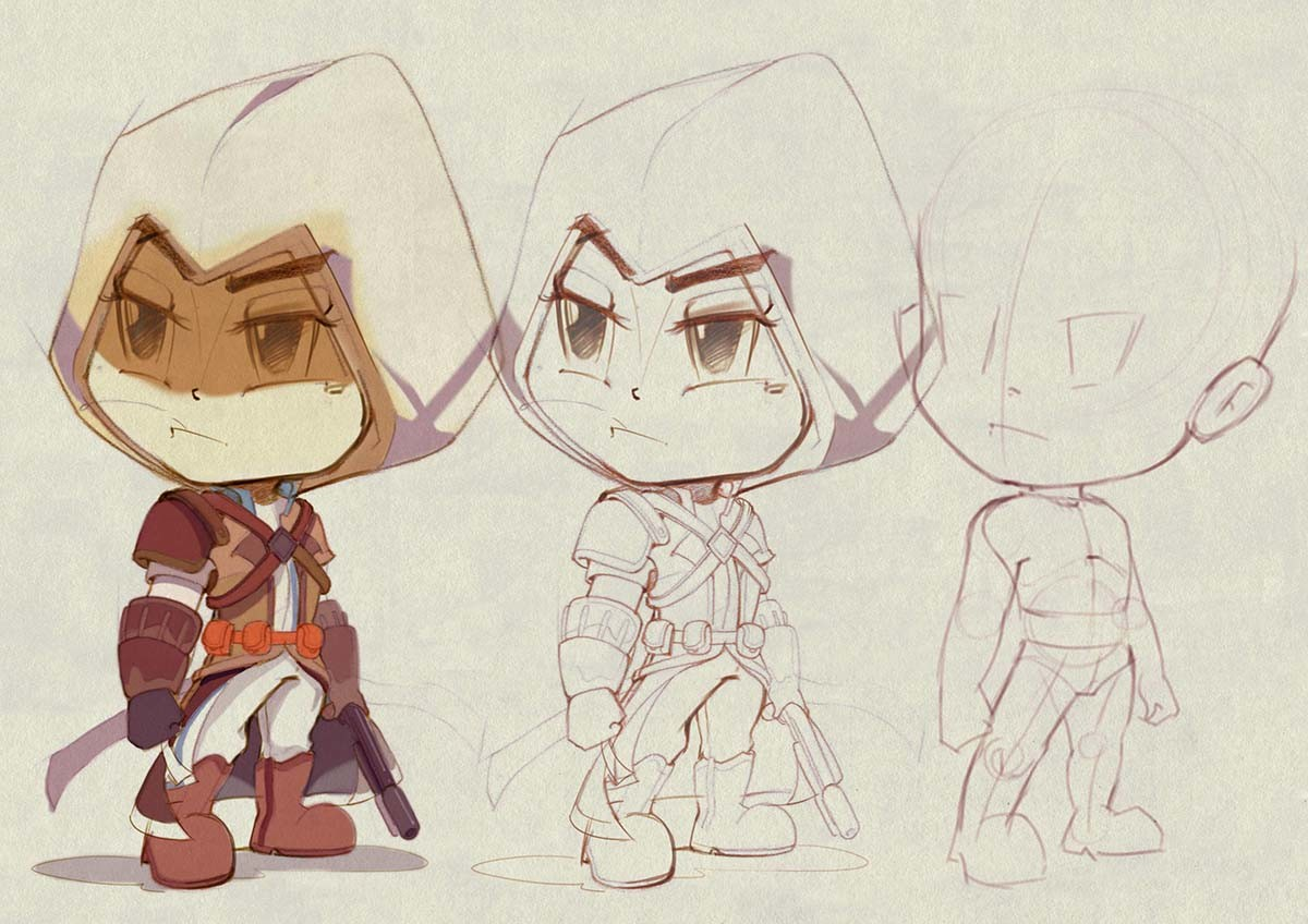 Dot line surface art studio assasin creed