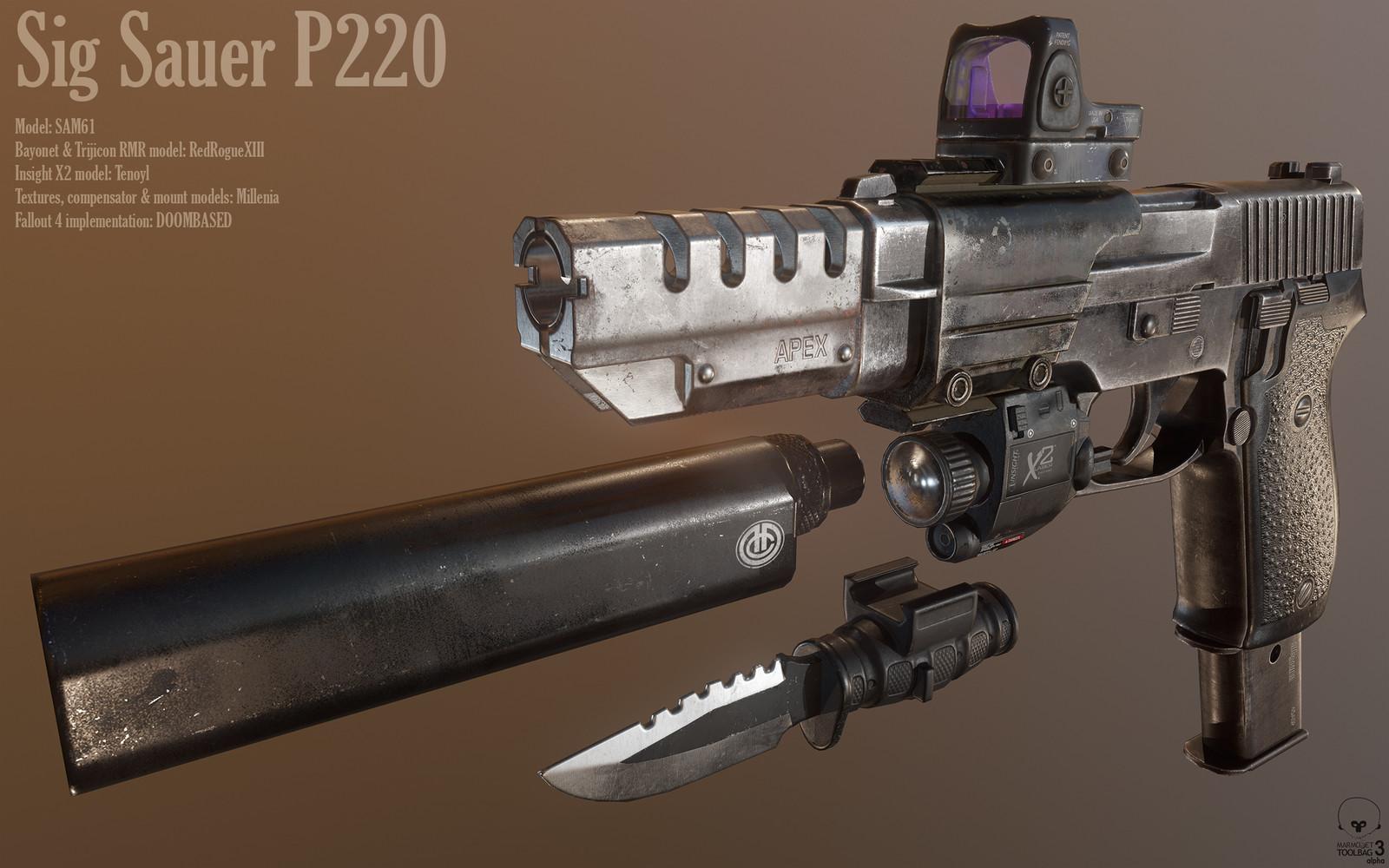 ArtStation - Sig Sauer P220 for Fallout 4, Hans Palm