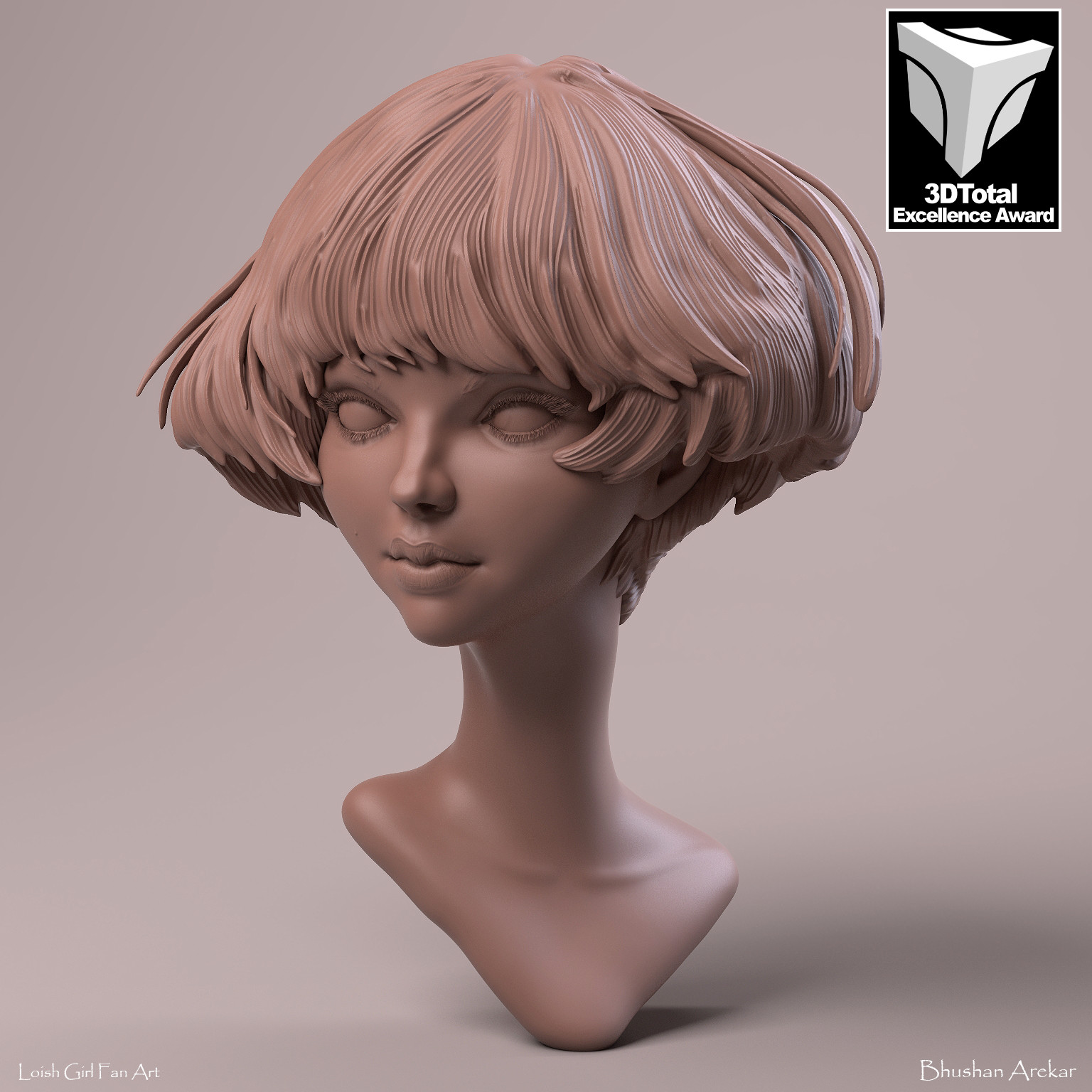 Loish Girl Clay Render