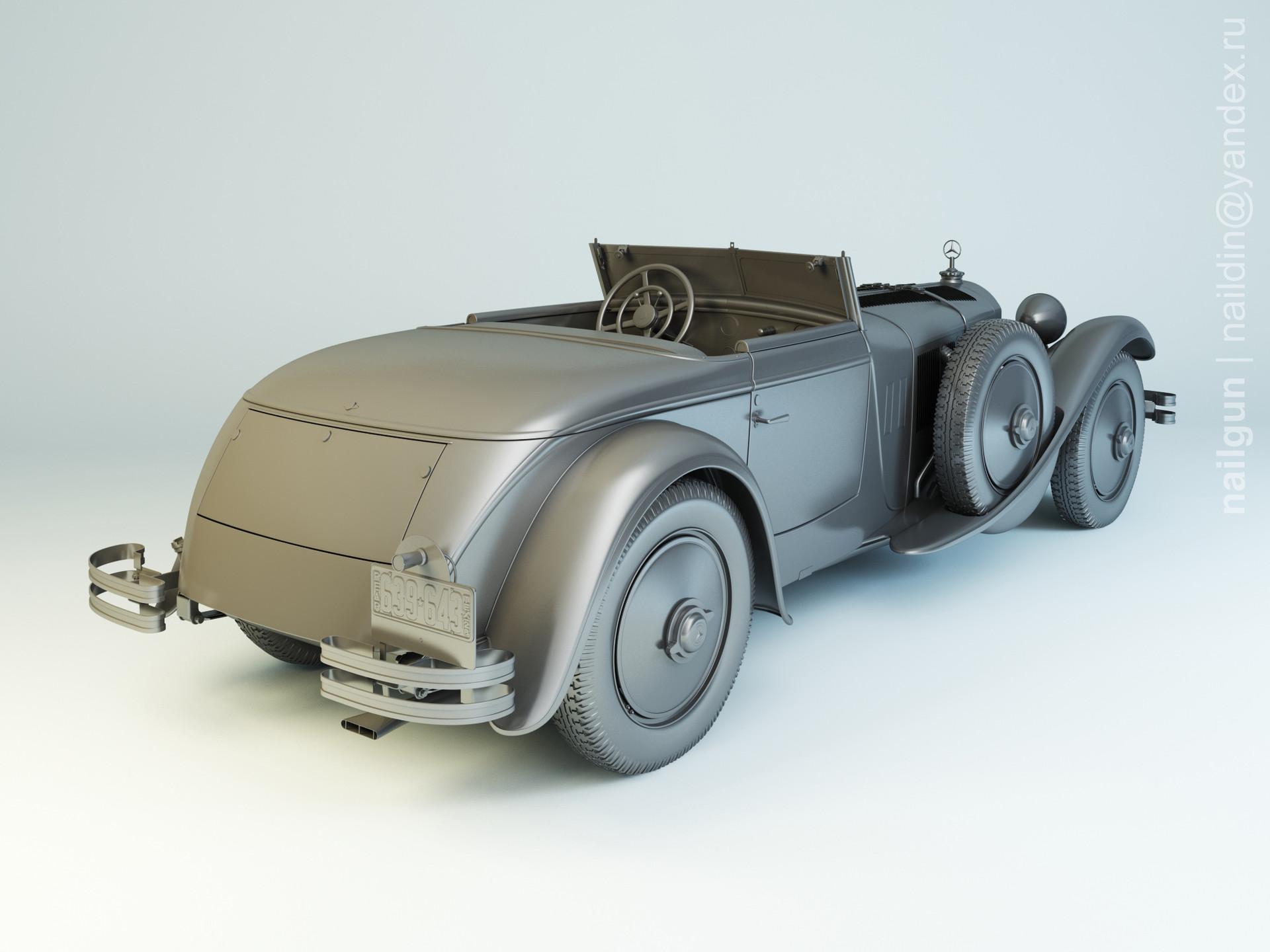 Nail khusnutdinov 004 mercedes 680s modelling 1