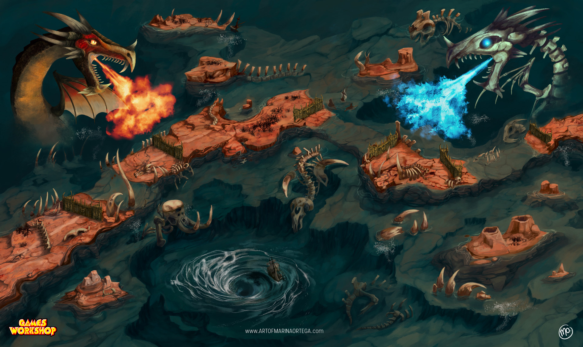 Marina ortega realm of beasts map beastclaw www artofmarinaortega com marinaortega