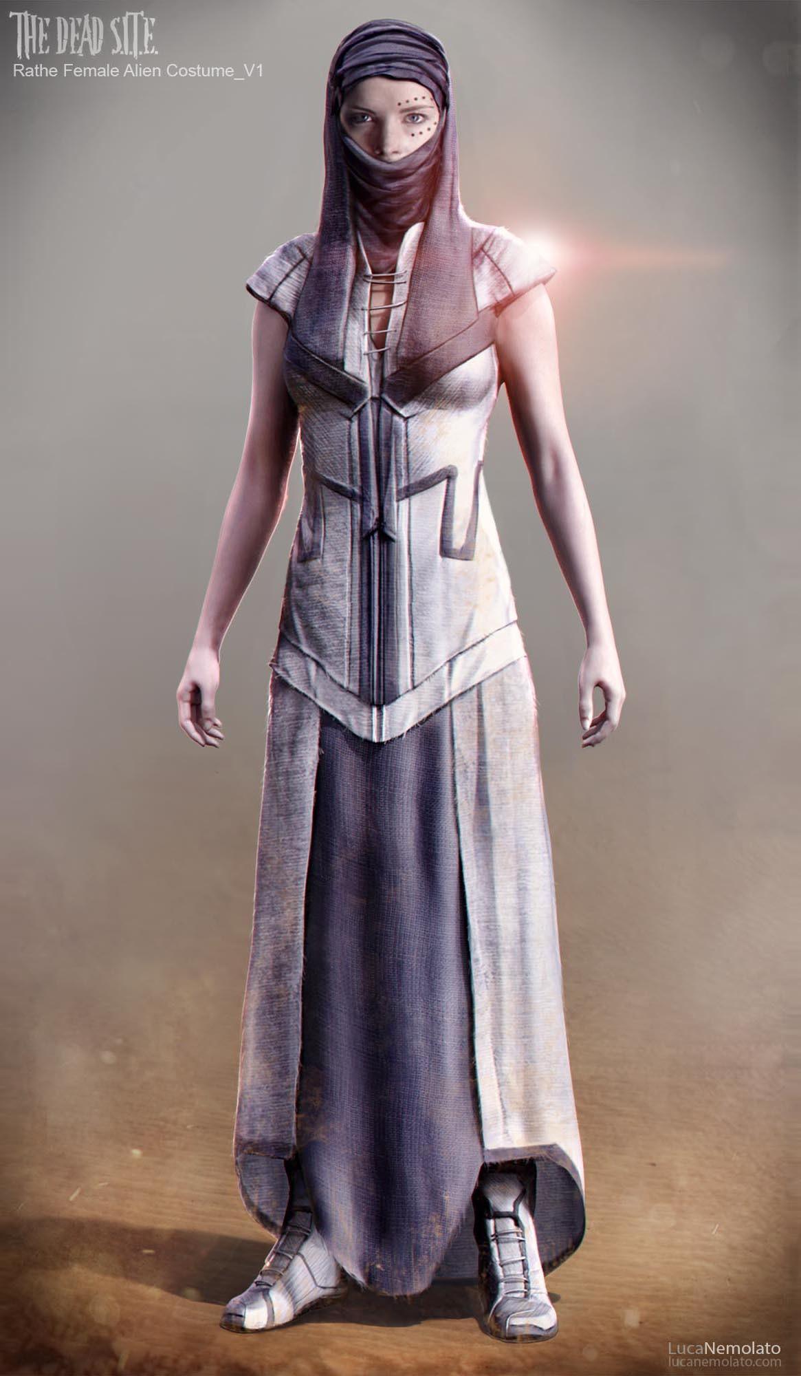 Humanoid Female Alien Concept Art