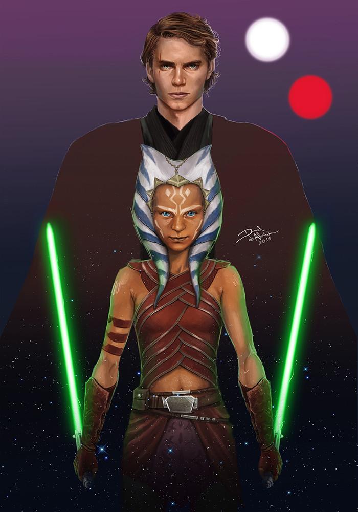 Daniel De Almeida E Silva Anakin Skywalker And Ahsoka Tano