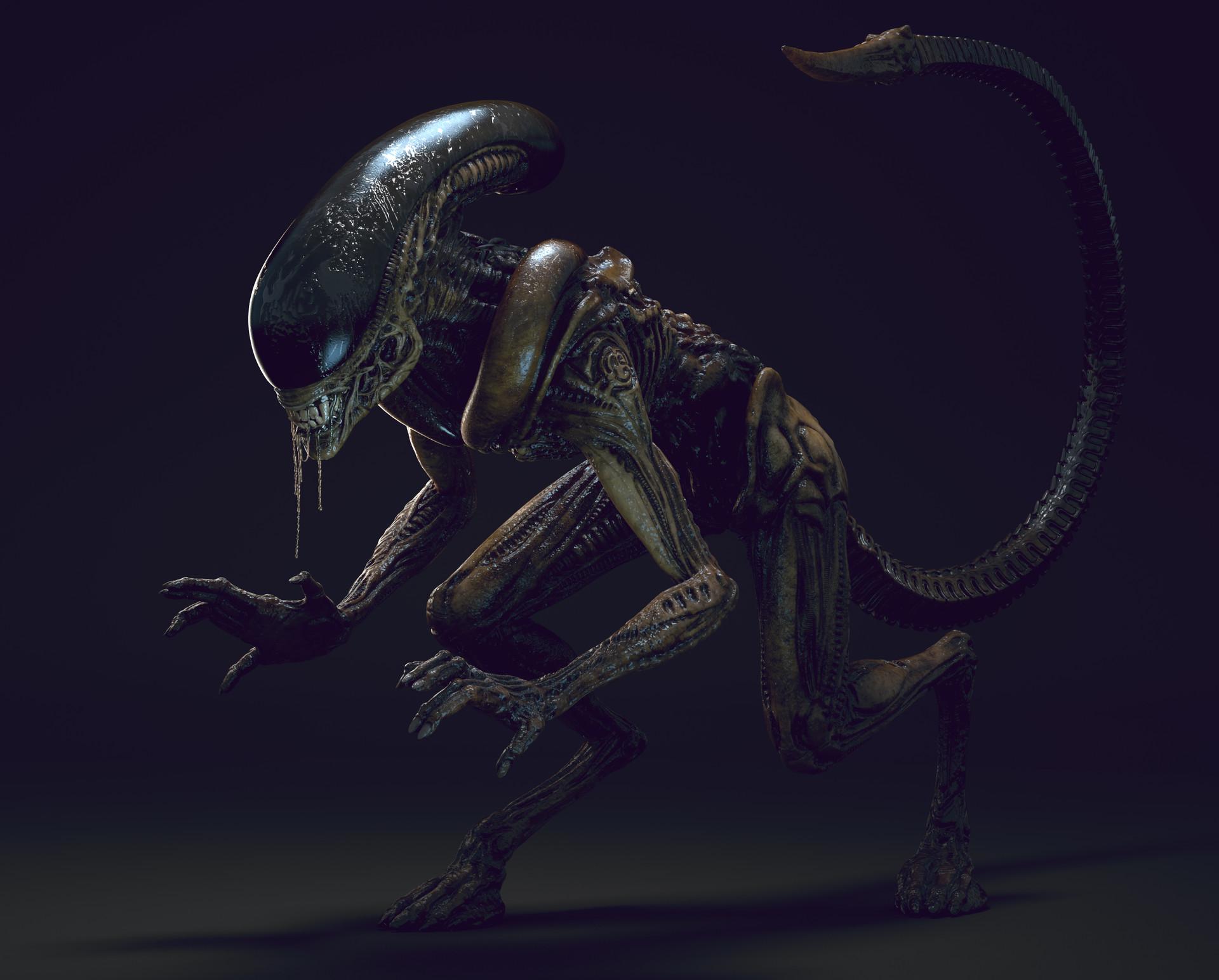 ArtStation - Alien runner, Alex Vasin