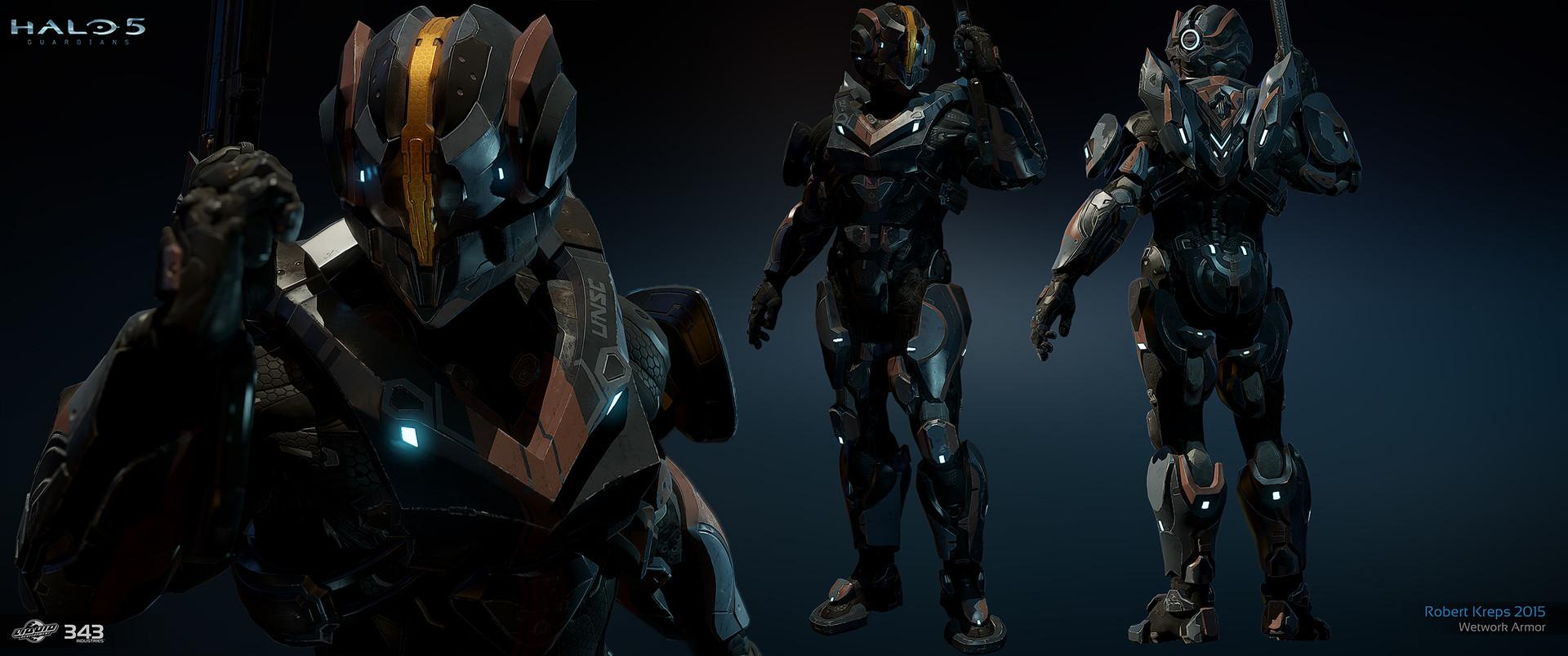 Robert Kreps - Halo 5 Guardians - Armor Permutations