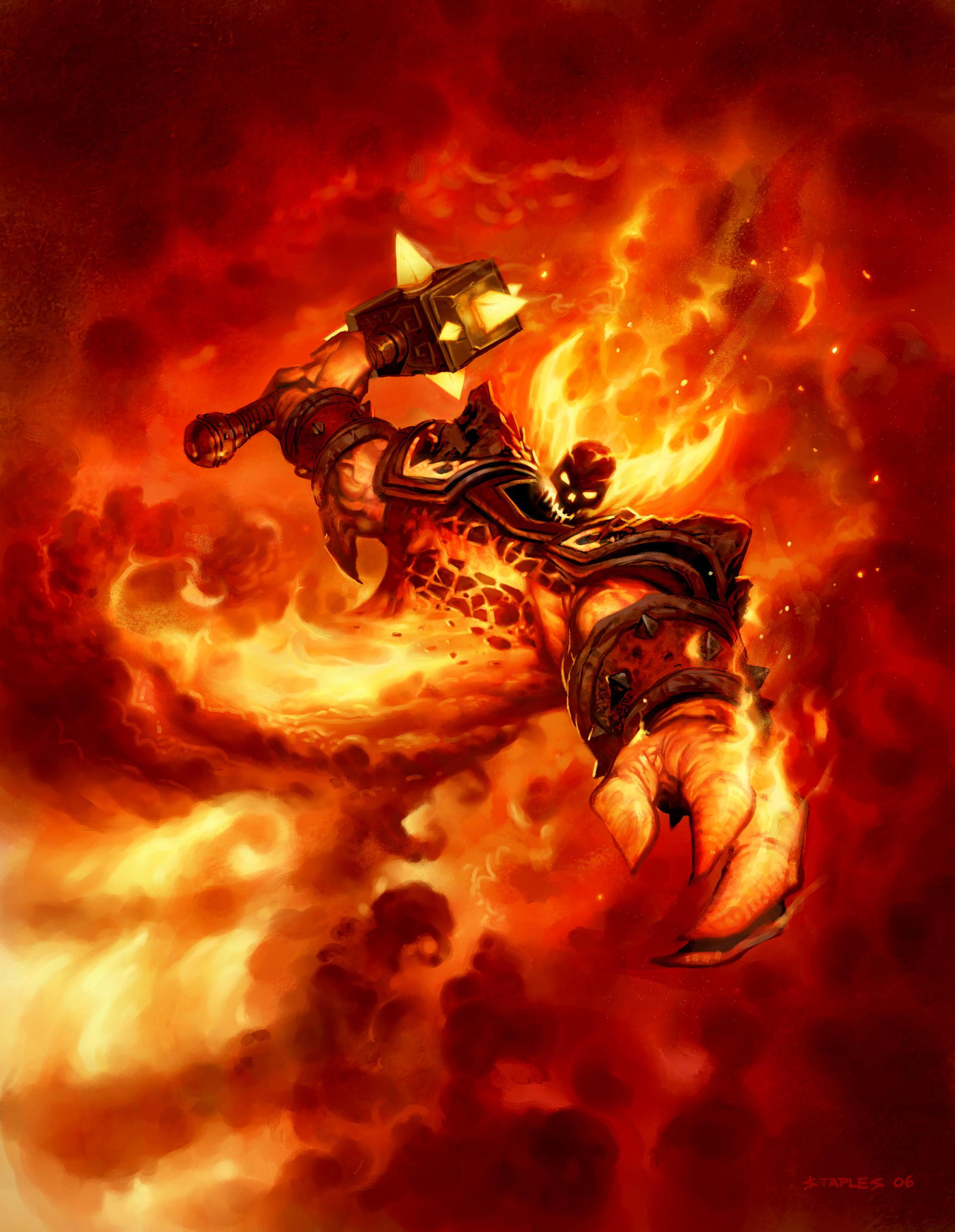 Fantasy Wallpaper Artstation Ragnaros The Firelord For Hearthstone Greg