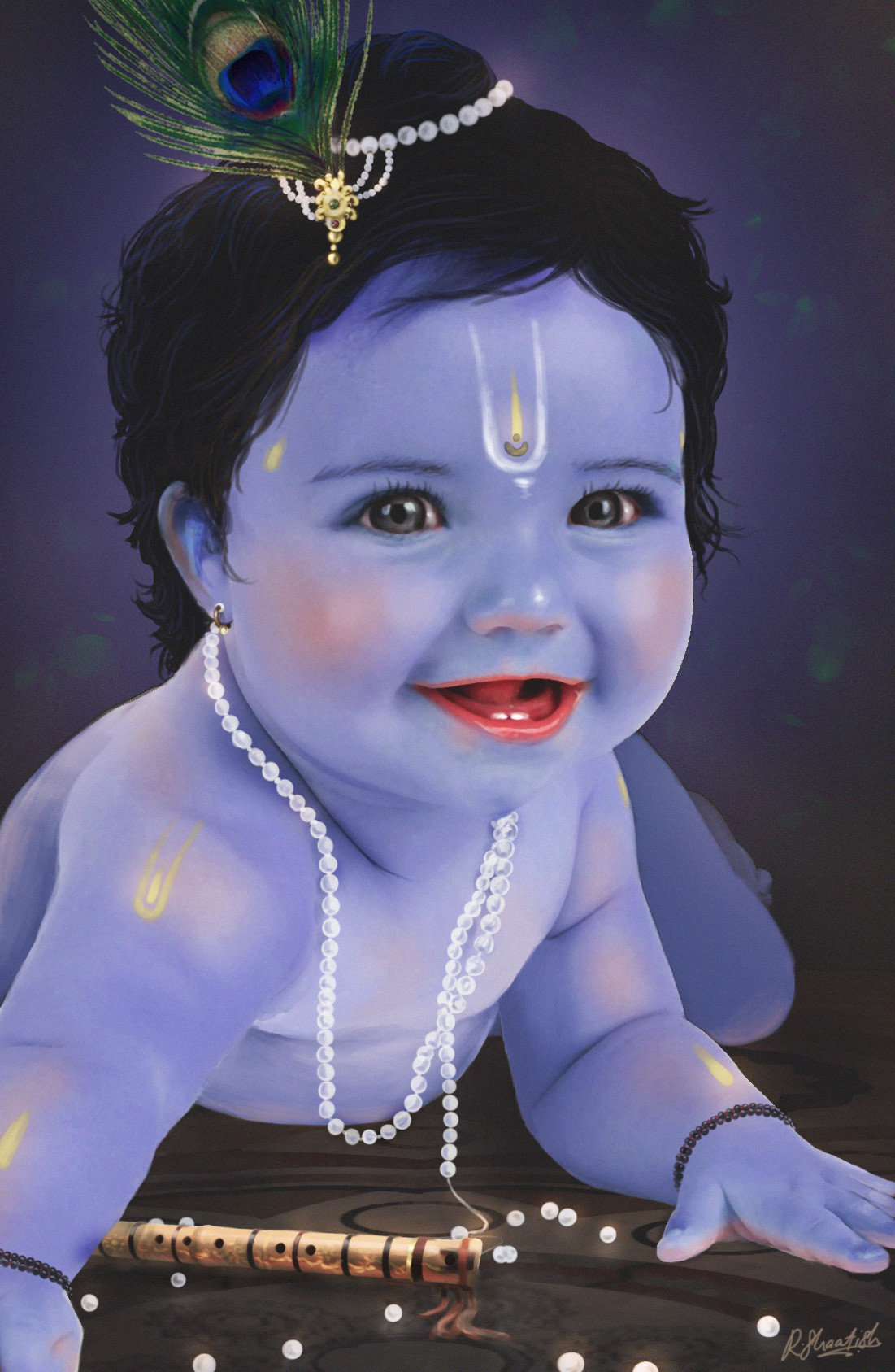 Artstation Baby Krishna Shaatish Rajendran