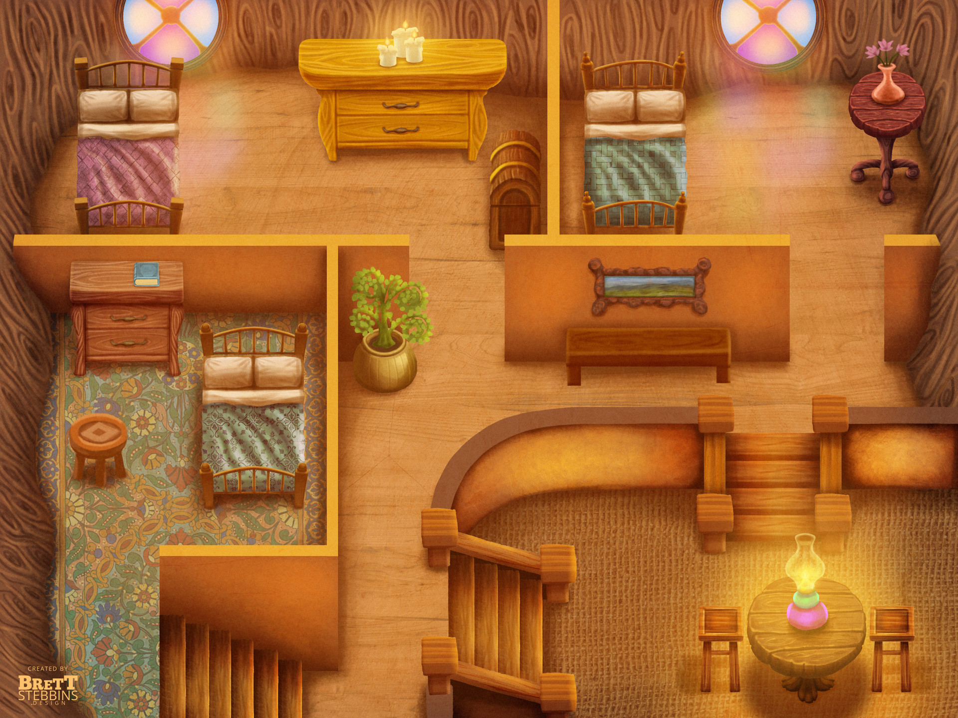 Sapling House Interior Concept Art