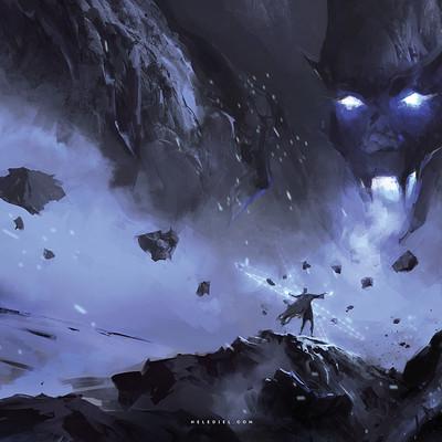 Nele diel fight in the mountains