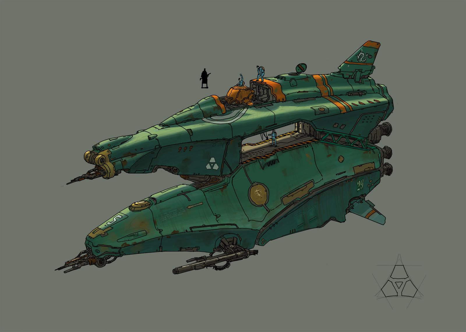spaceship practise 2