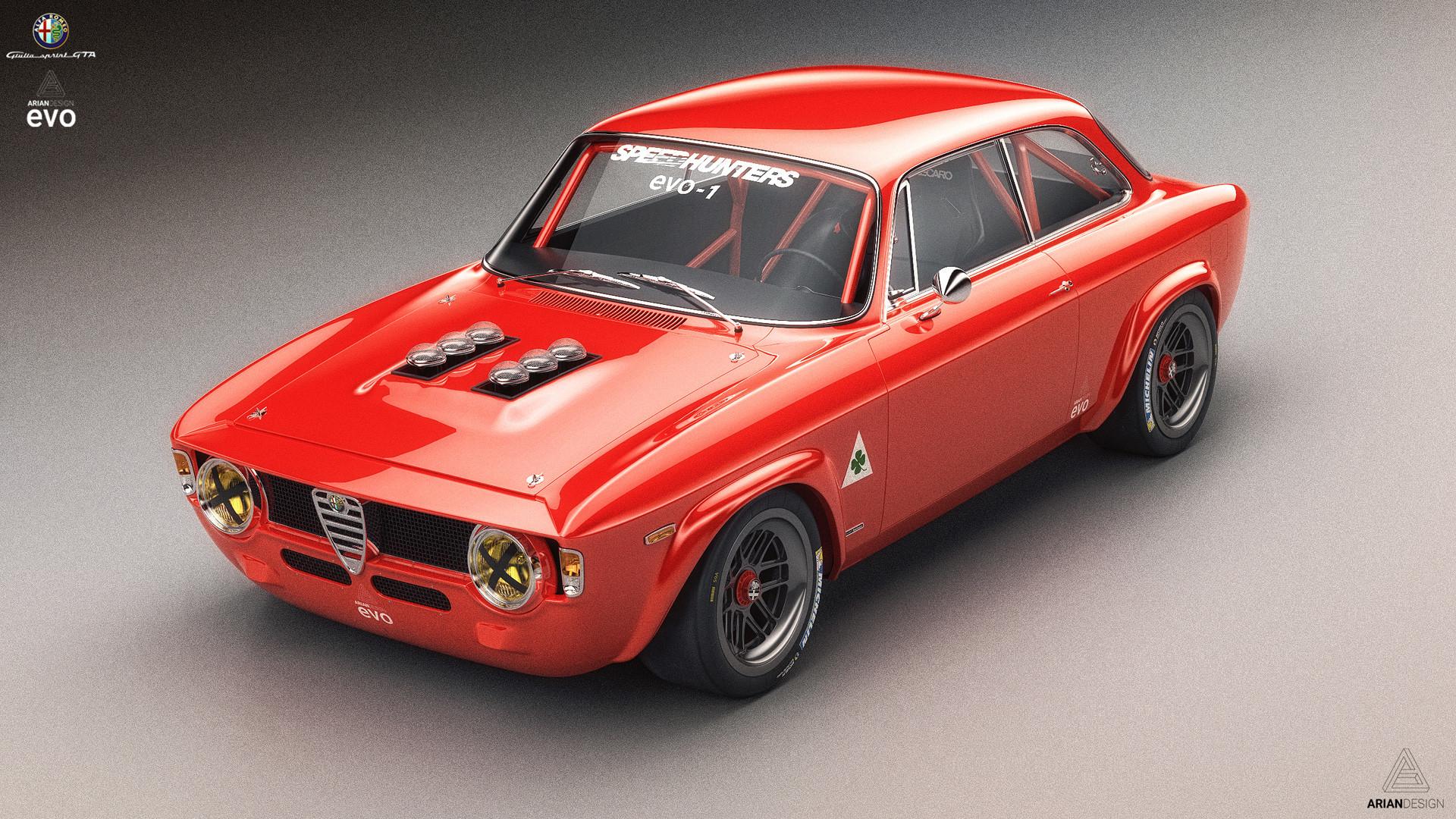 ArtStation - Alfa Romeo Giulia GTA Ariandesign EVO-1 Studio shoots ...