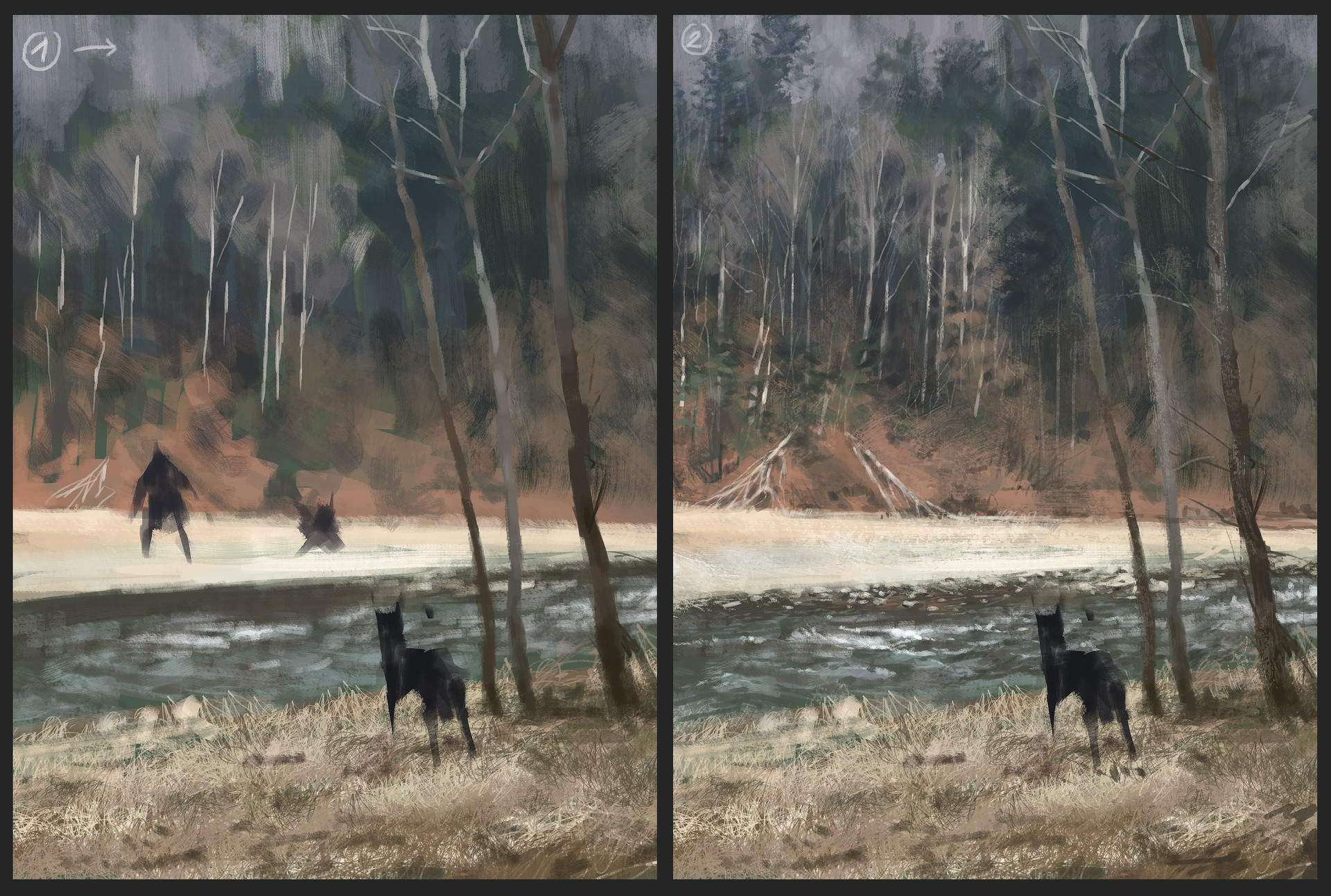 Jakub rozalski colors of autumn process01