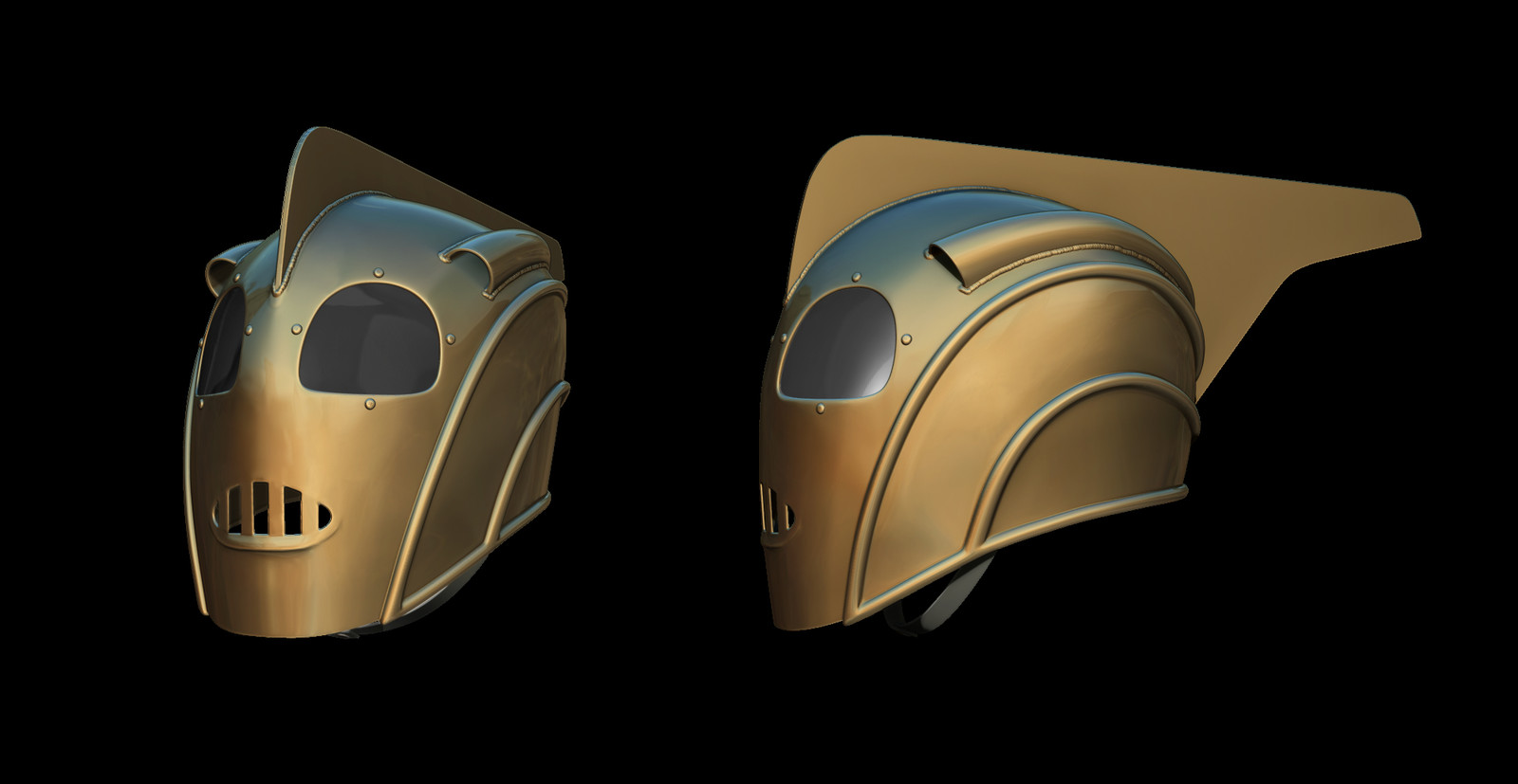 High Poly Helmet Model