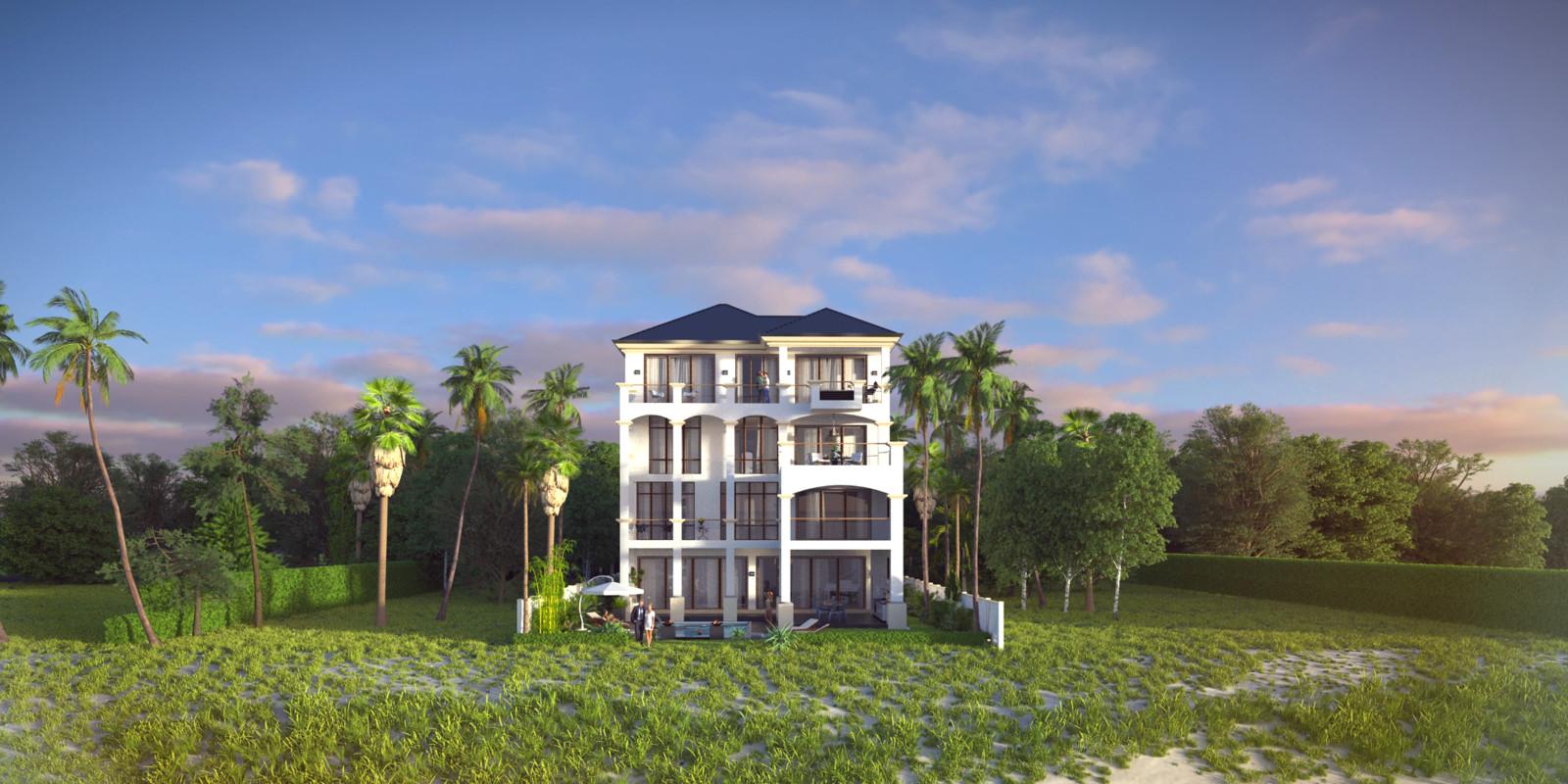 SketchUp + Thea Render  Seagrove Beach House: Scene 35 2pt A Lumina Sun 2160 × 1080 Presto MC Bucket
