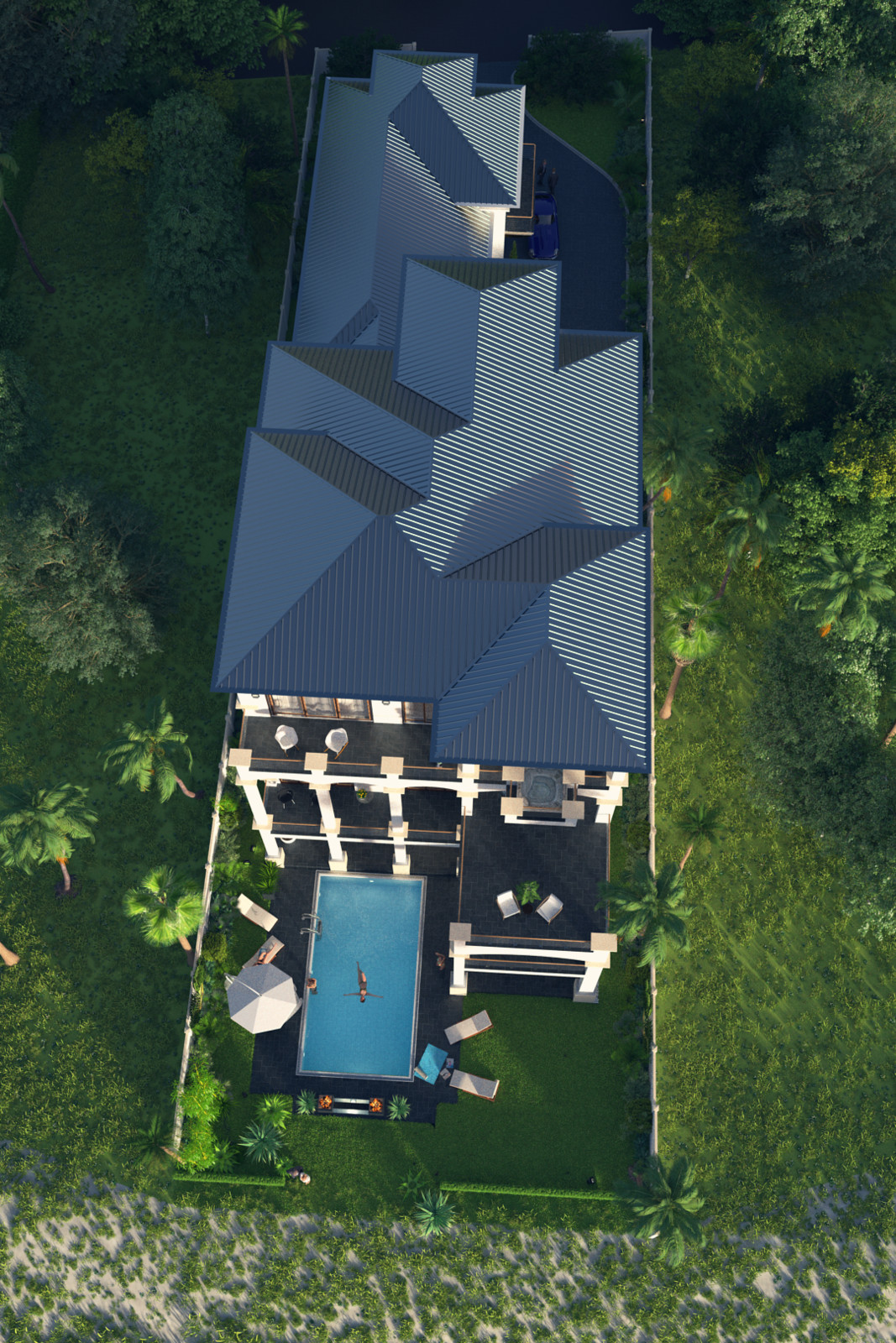 SketchUp + Thea Render  Seagrove Beach House: Scene 21 Vertical 5-3 Nash 1080 × 1620 Presto MC Bucket
