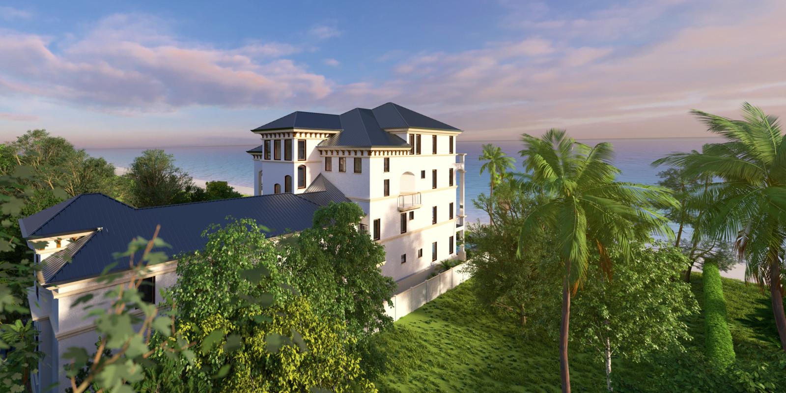SketchUp + Thea Render  Seagrove Beach House: Scene 11A B Bob Early 2160 × 1080 Presto MC Bucket