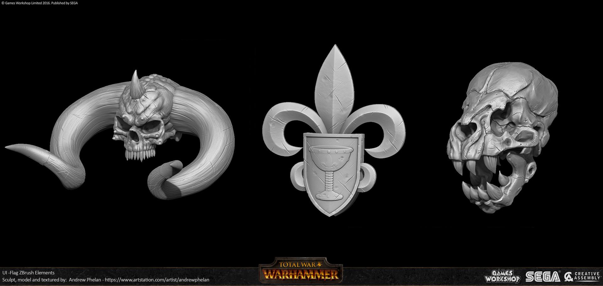 ArtStation - UI Flags for Warhammer - Total War, Andrew Phelan
