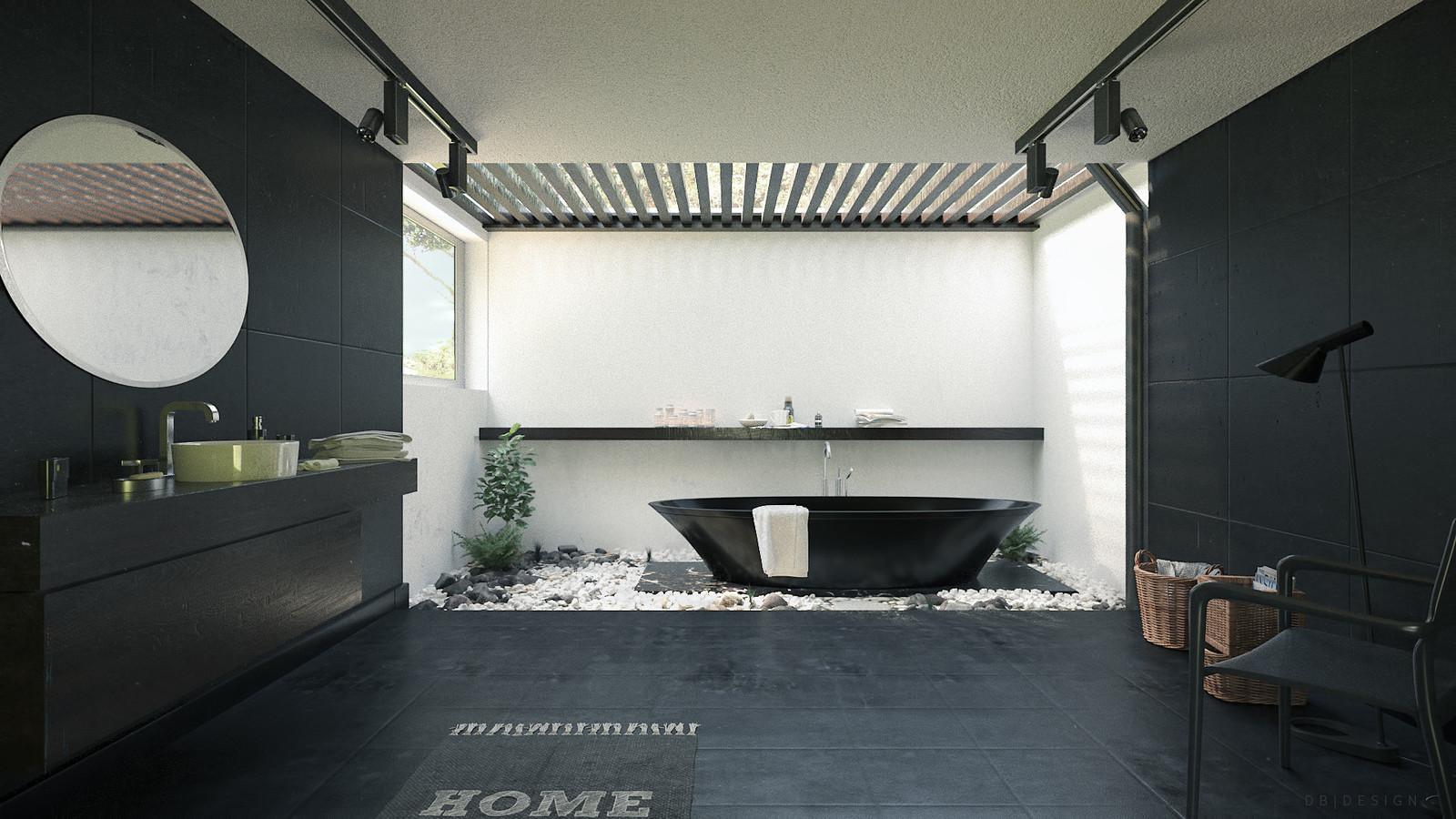 Architectural Visualisation - Zen Bathroom