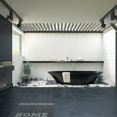Architectural Visualisation - Zen Bathroom