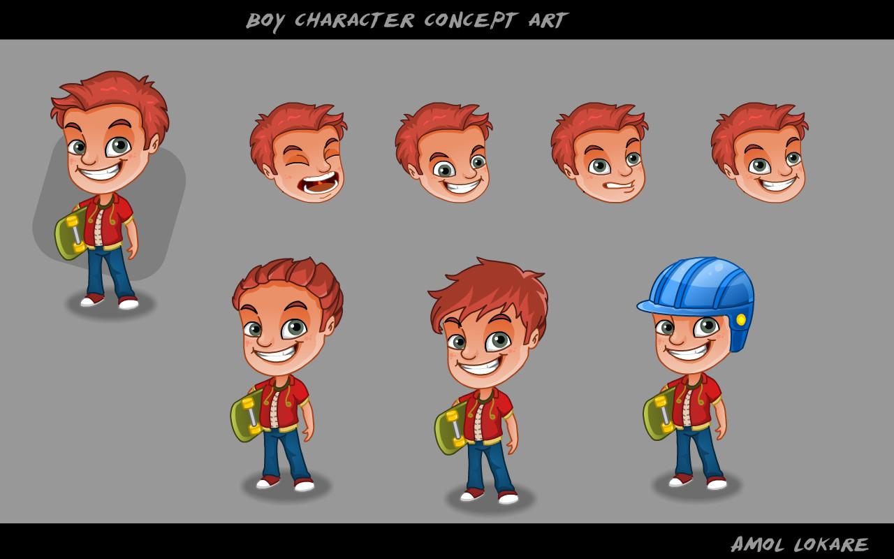kitchen customer - boy character design