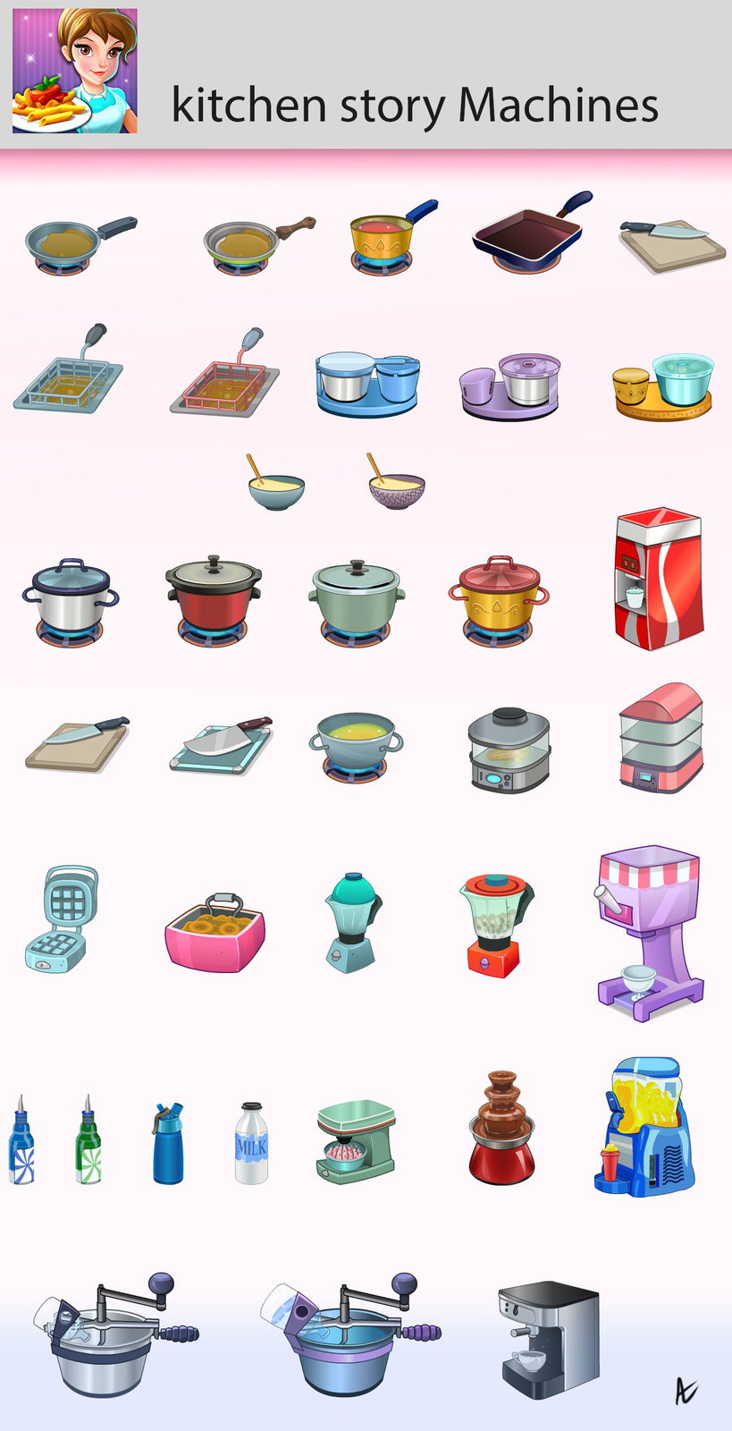 Kitchen Assets and machines