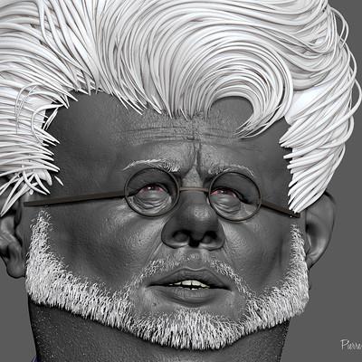 George Lucas 3D sculpt  based upon a 2D caricature by Jason Seiler