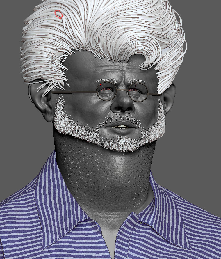 George Lucas 3D sculpt based upon a 2D caricature by Jason Seiler