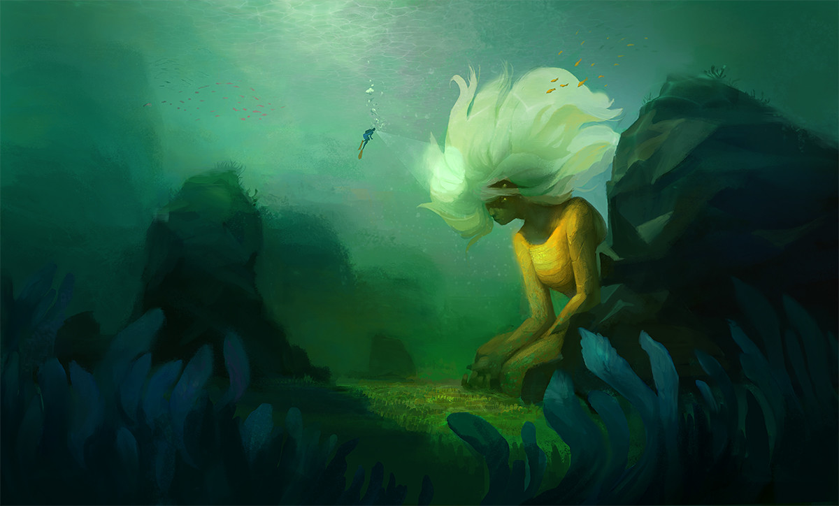 Inna hansen under water