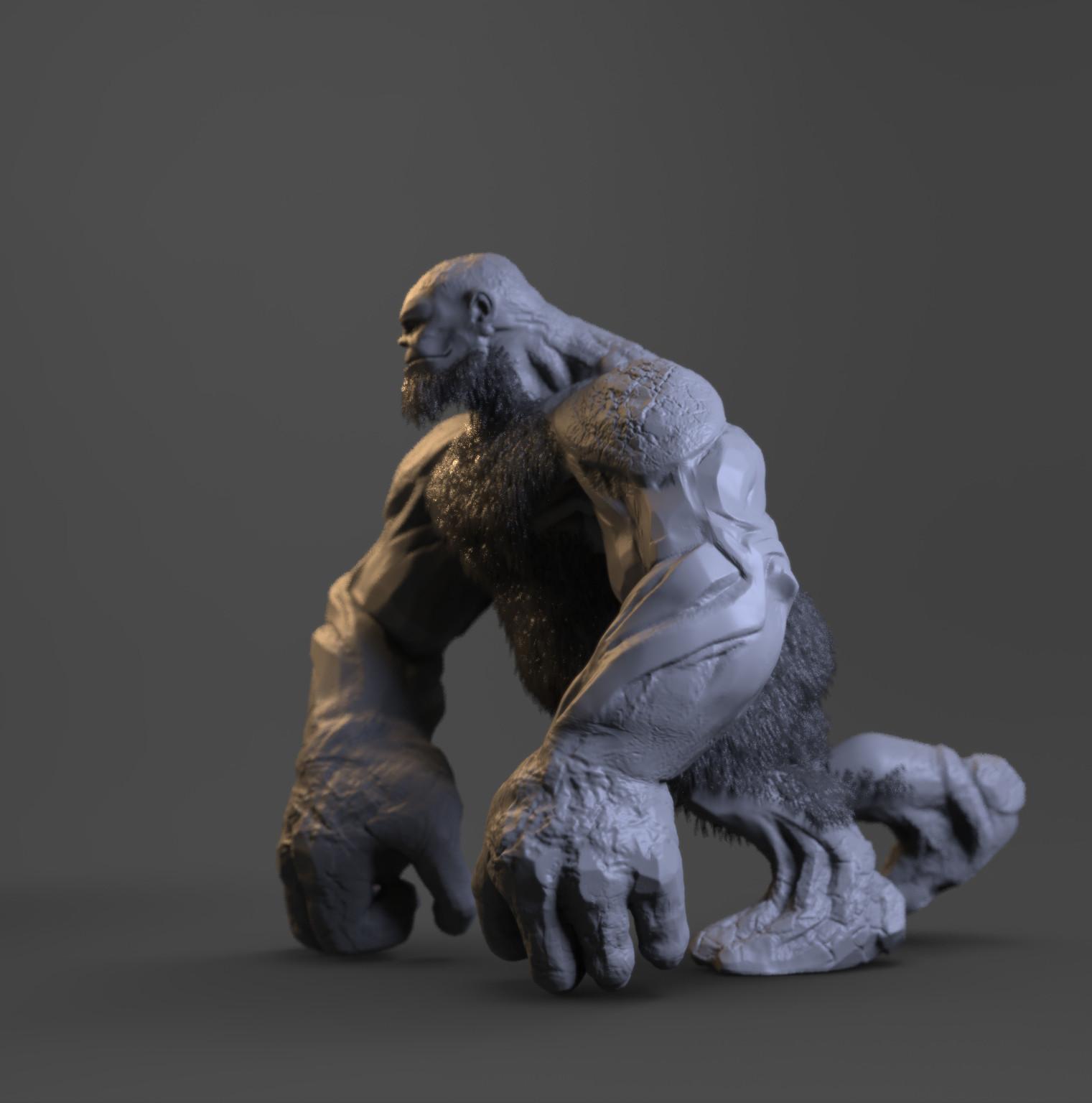 Rock Gorilla - concept sculpt