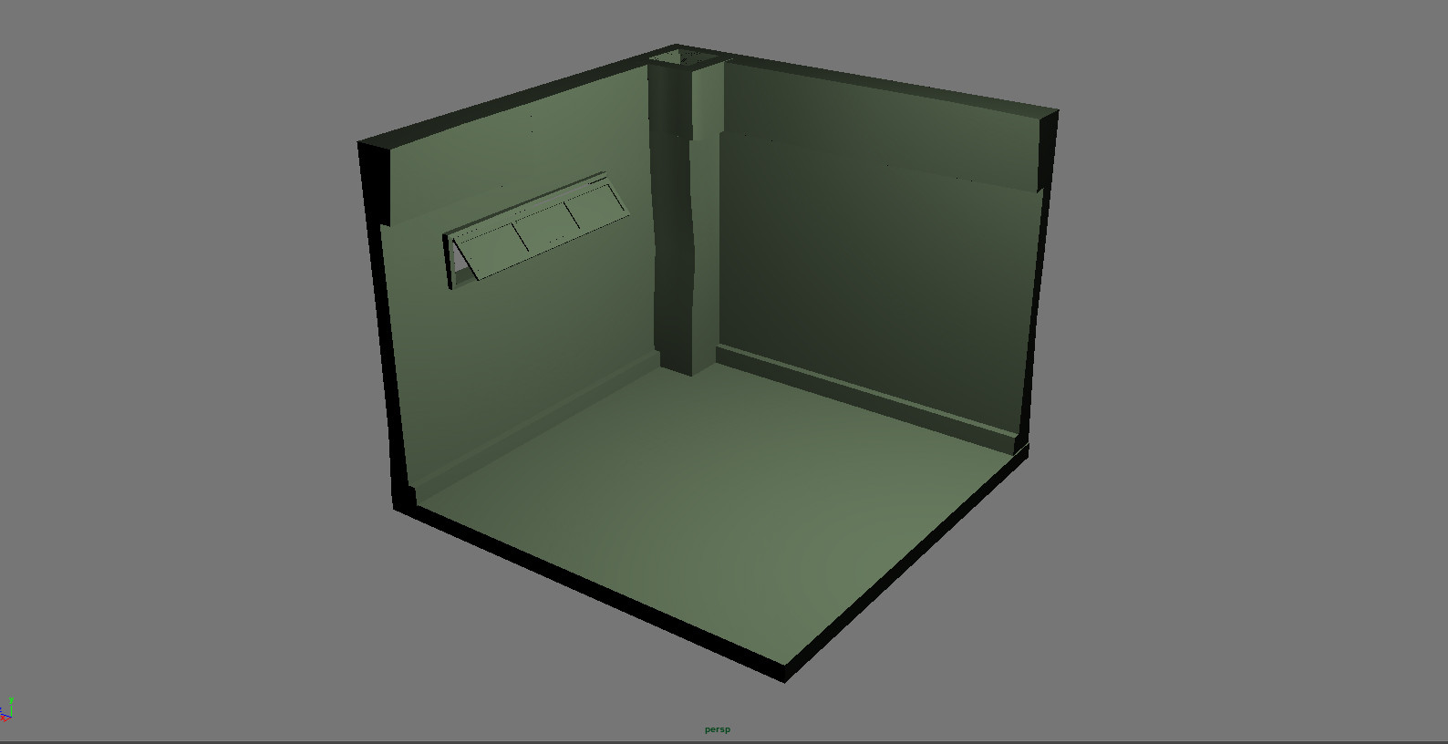 3D model mock up of corner section concept