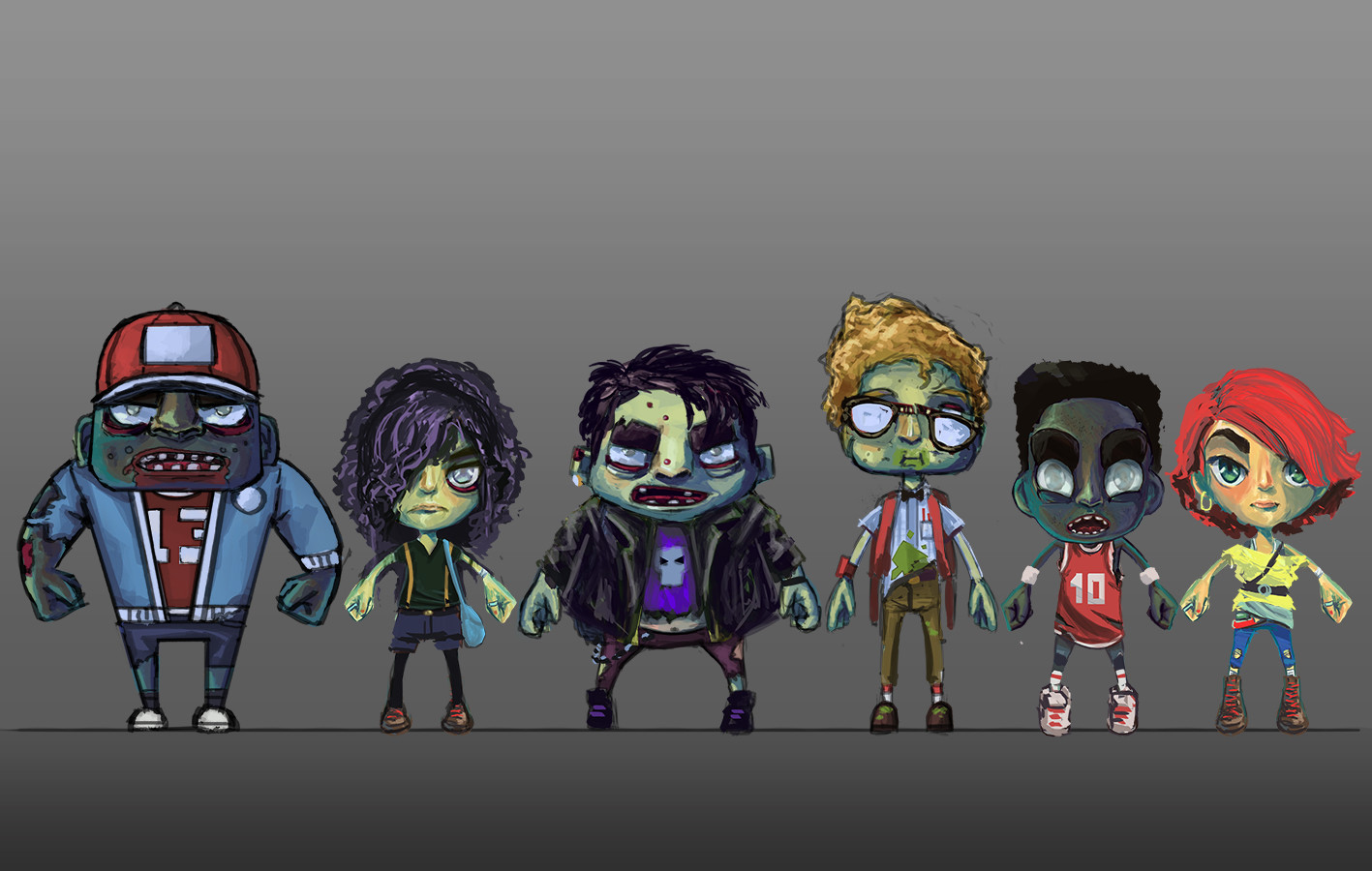 Character 80's style line up