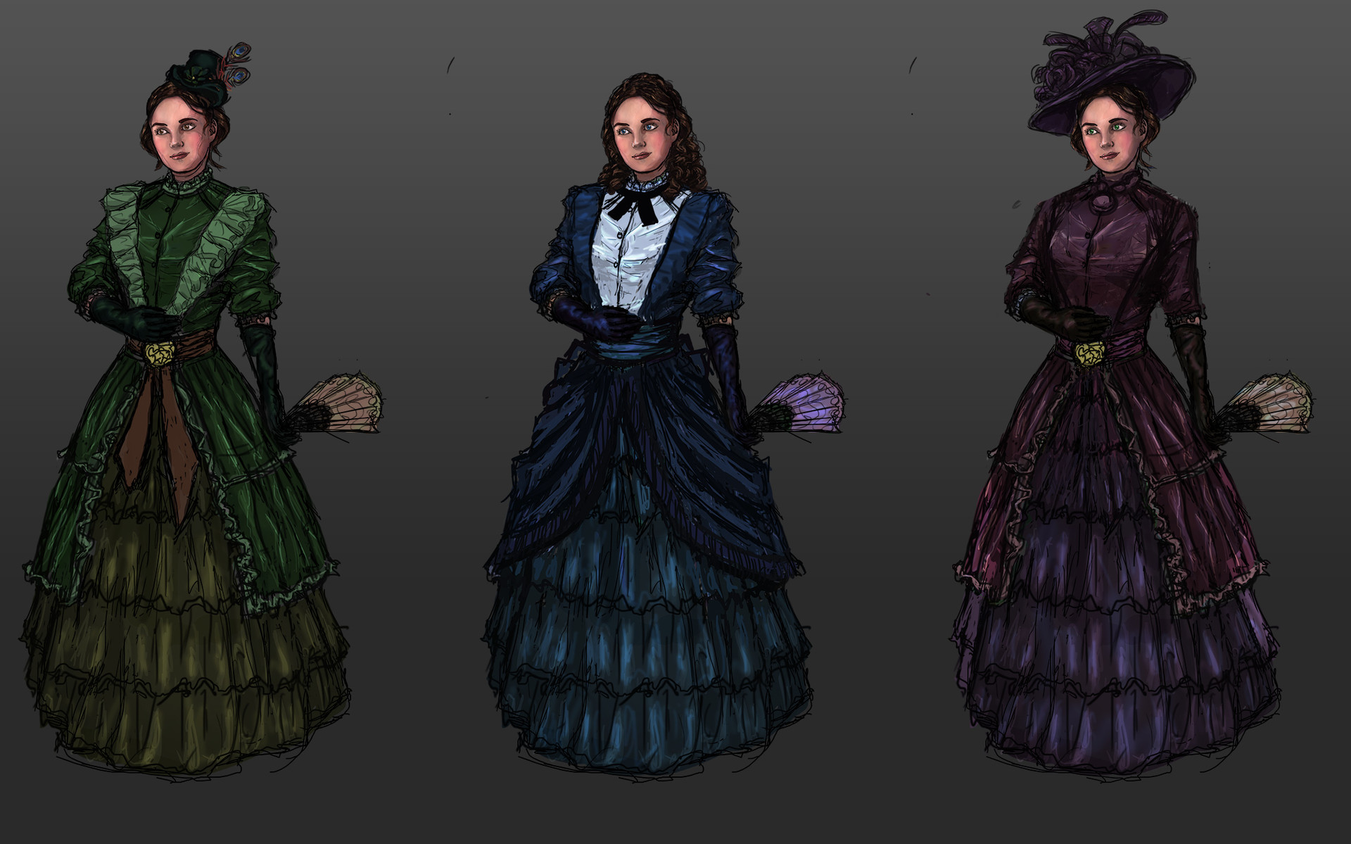 Victorian noble lady concepts