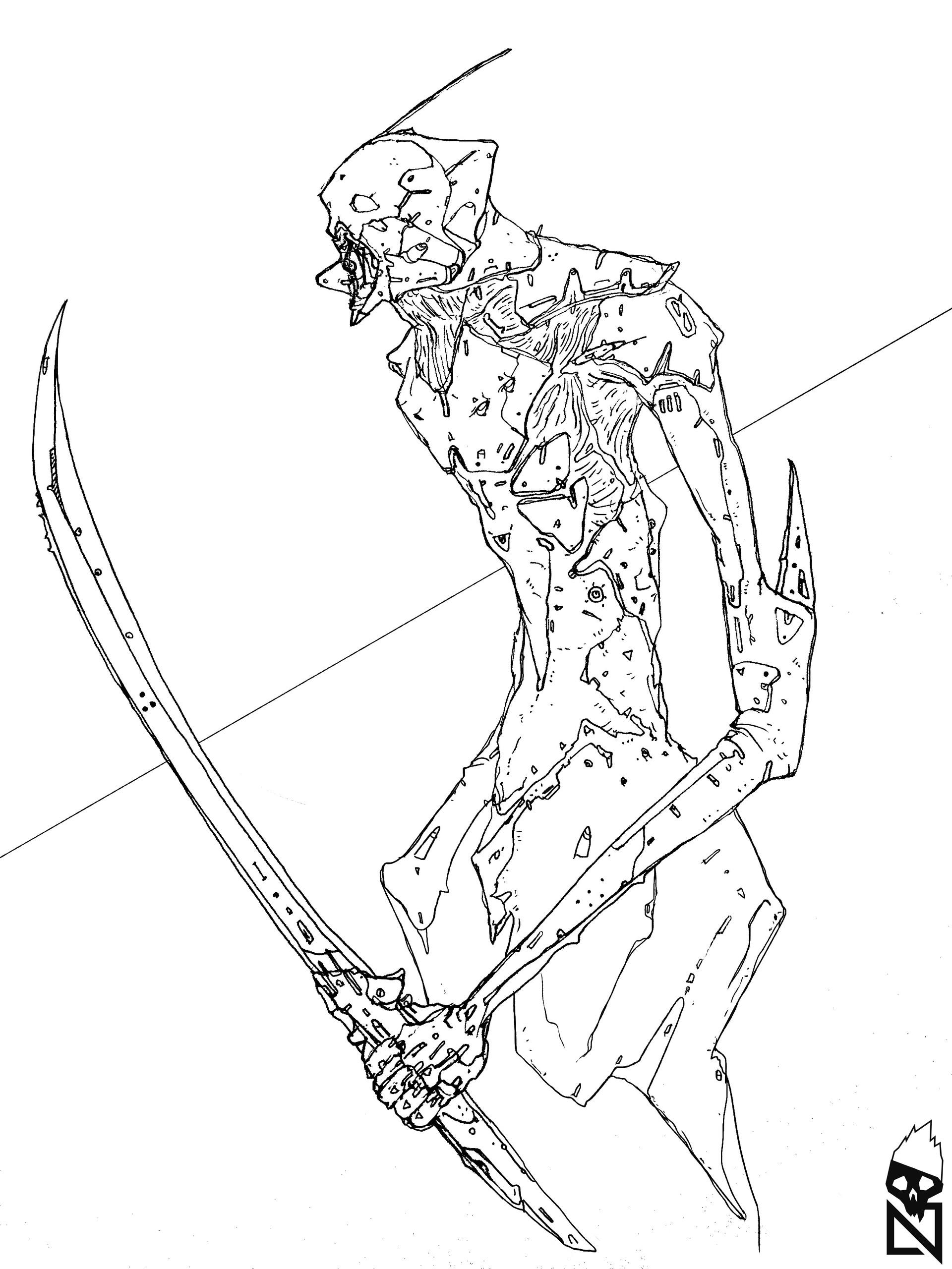 Original ink sketch