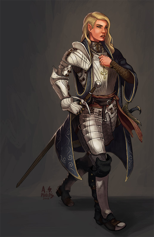 ArtStation - Commission: Soldier Cleric, Andrew Phillips