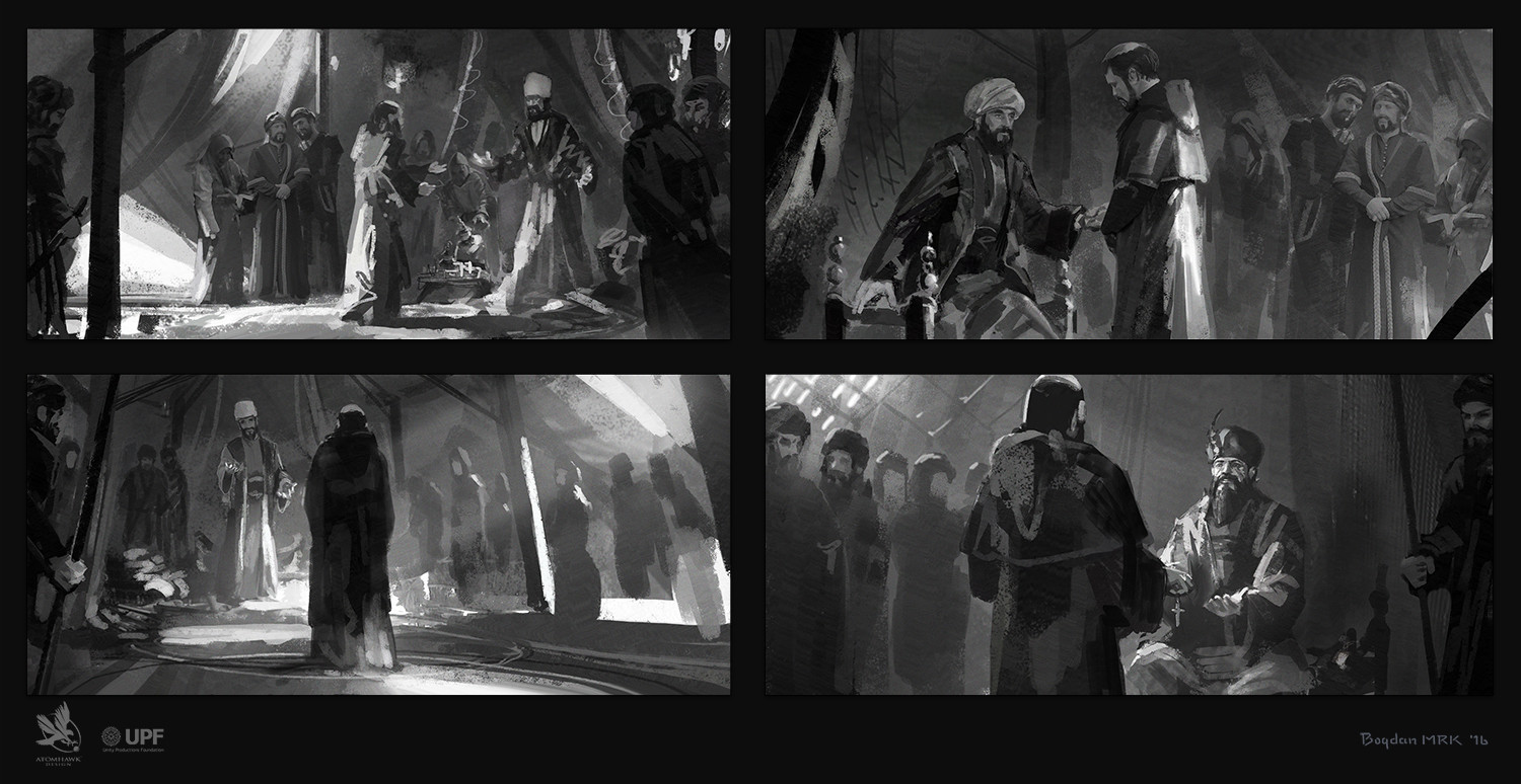 The preliminary sketches done for this project.