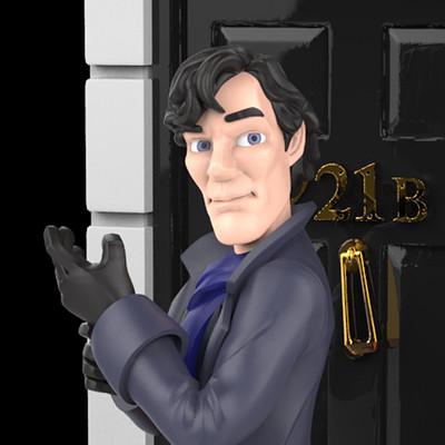 Caitlin ashford sh sherlock at door