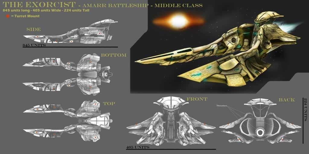 Alan jacobson eveonline exorcist 3dmodel starship