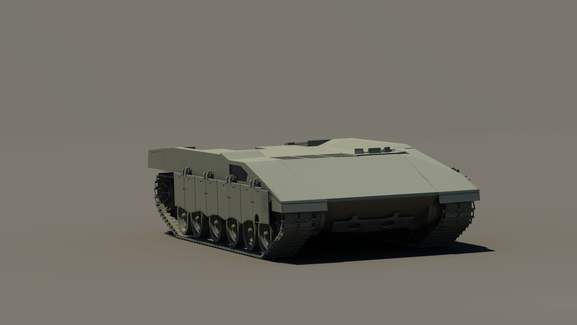 Week 2 WIP render. Added bulk hull with main silhouette and some finer detail.