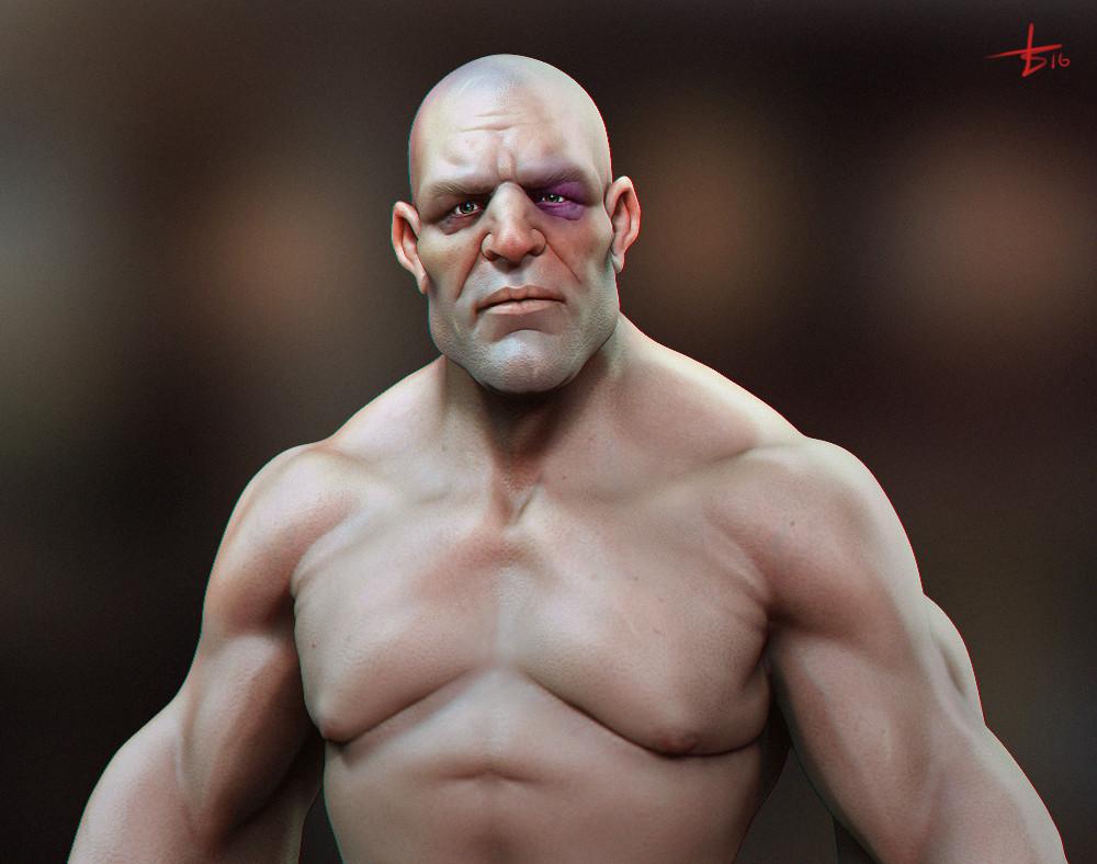 artstation generic bald guy luka pavlovich