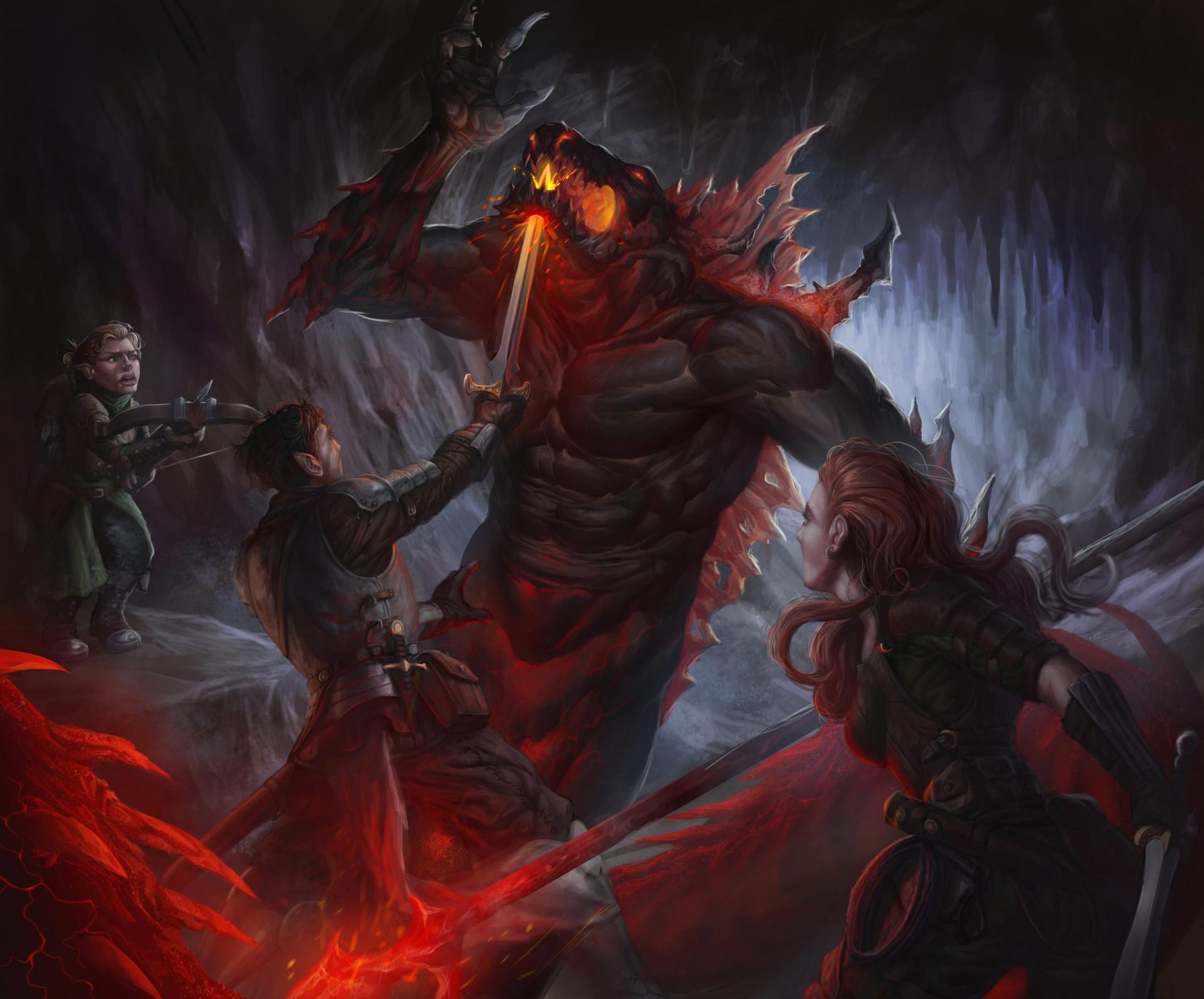 ArtStation - D&D battle, Carlos Jaramillo